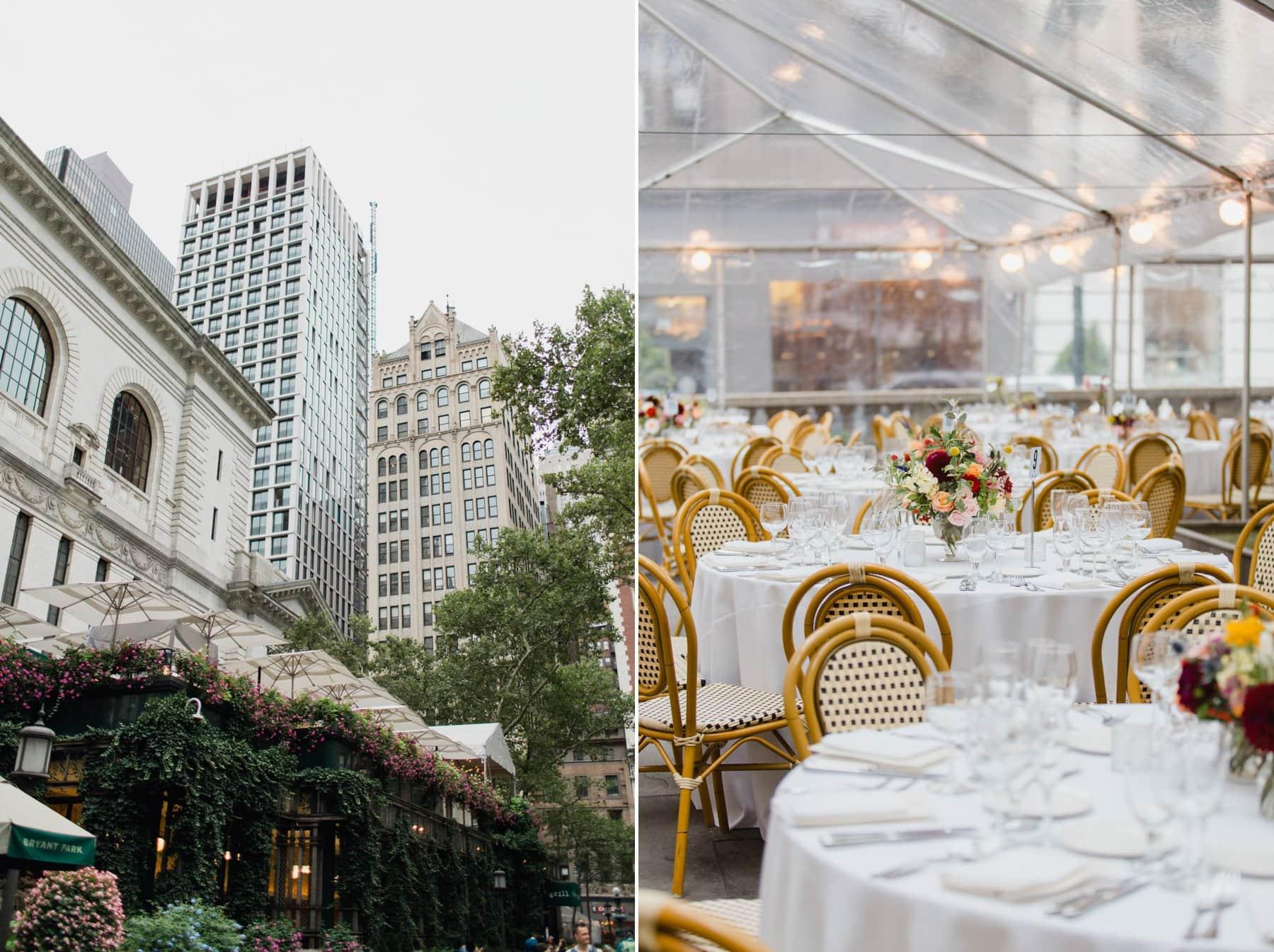 Bryant Park Grill wedding in Manhattan