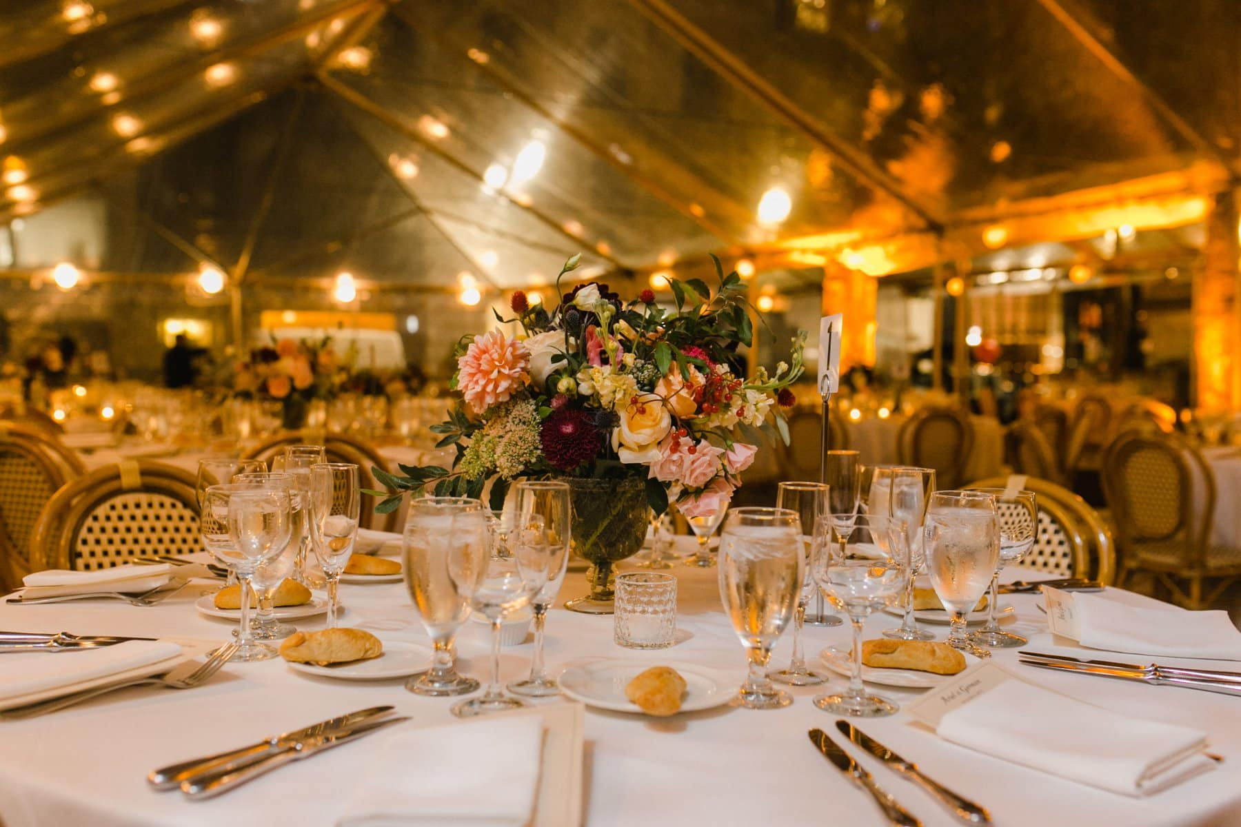 Bryant Park Grill clear tented reception