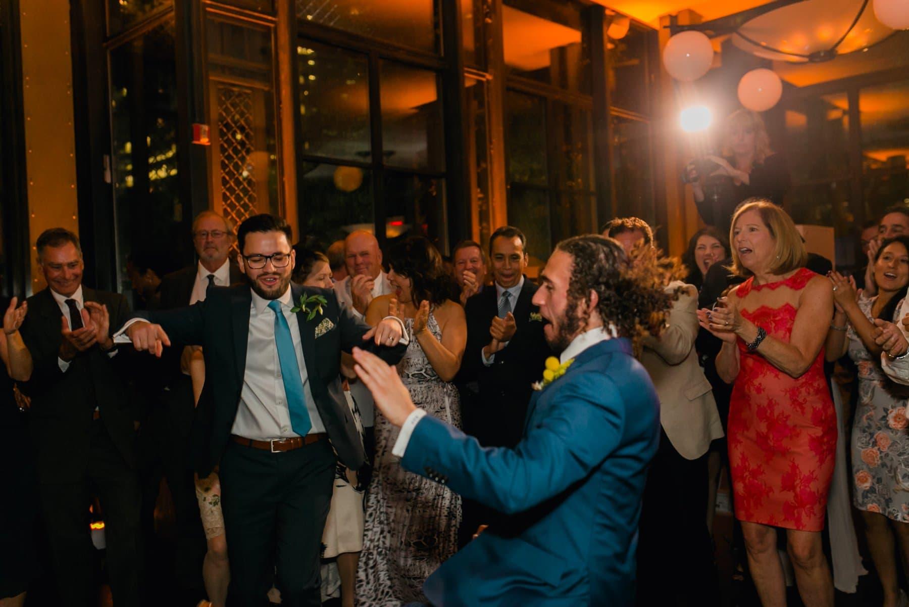 Bryant Park Grill wedding reception the Jewish hora