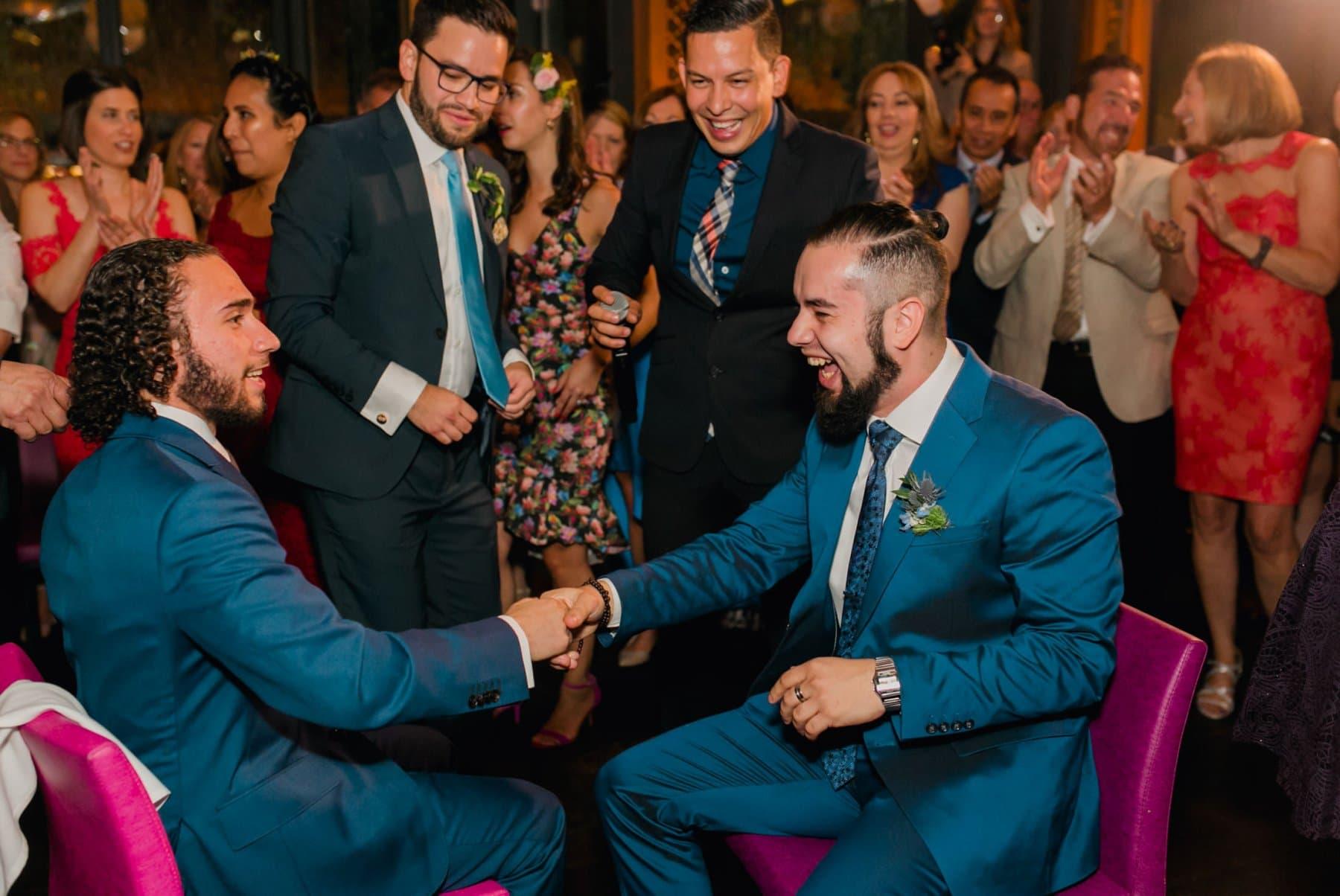 Bryant Park Grill wedding reception Jewish hora