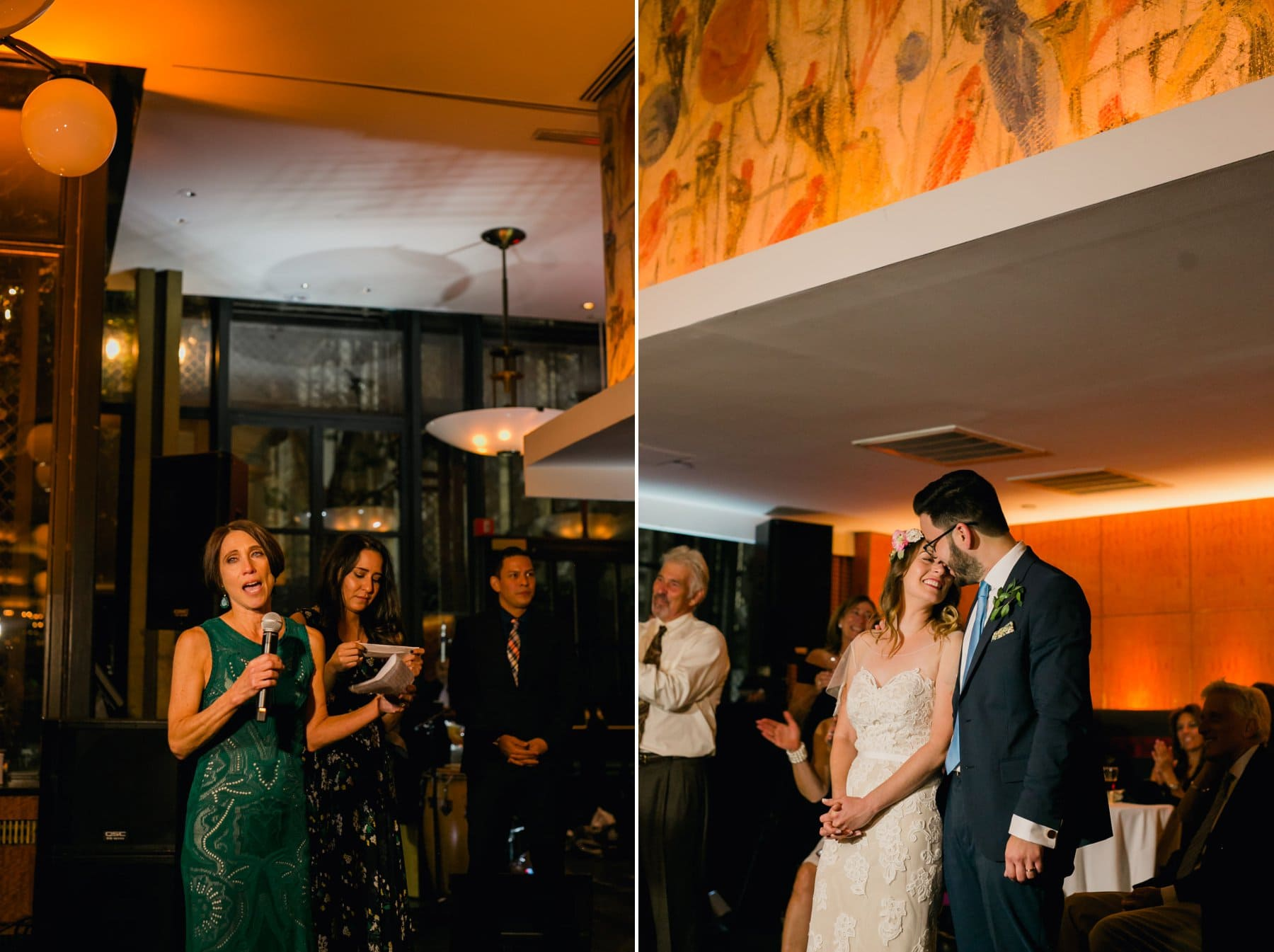 Bryant Park Grill wedding reception toasts