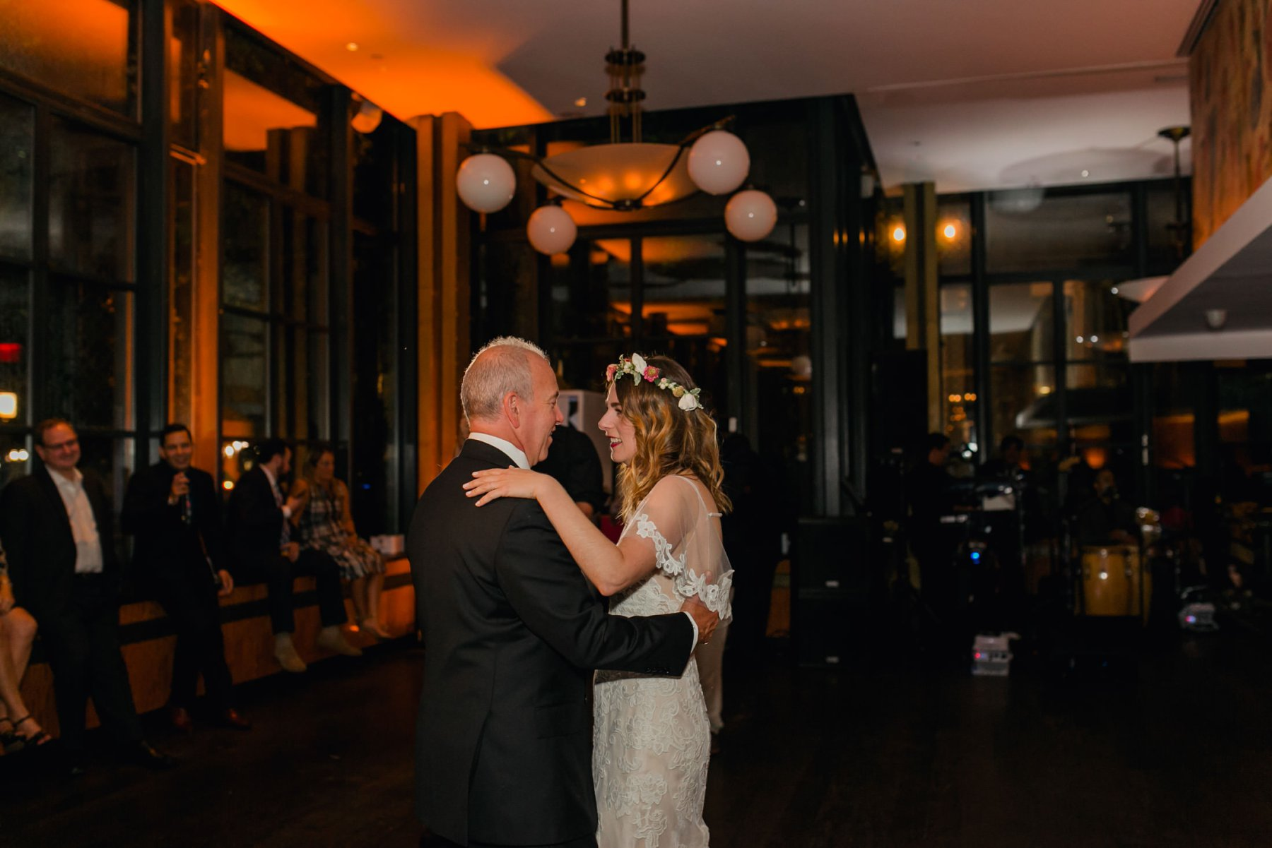 Bryant Park Grill wedding reception father daughter dance