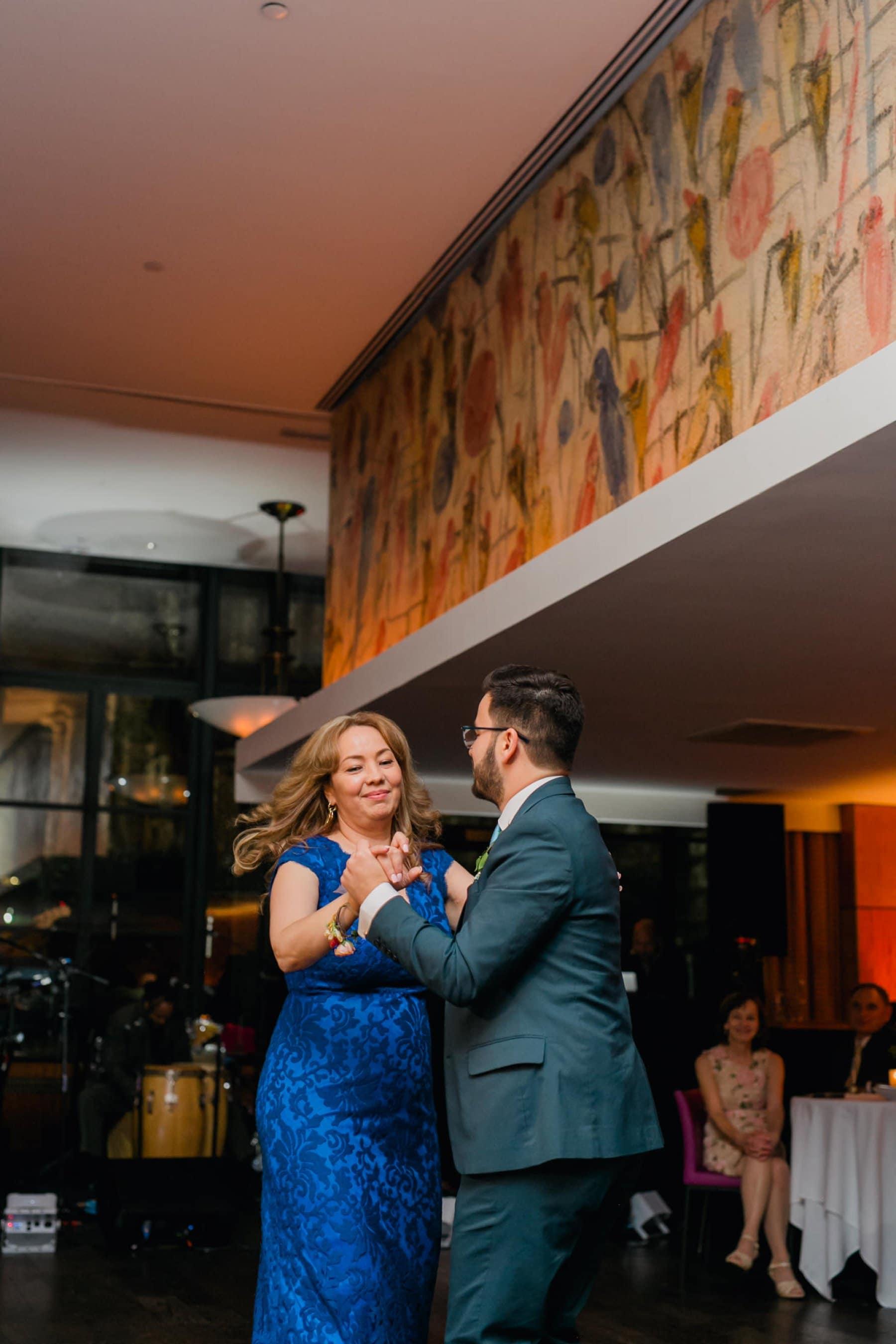 Bryant Park Grill wedding reception mother son dance