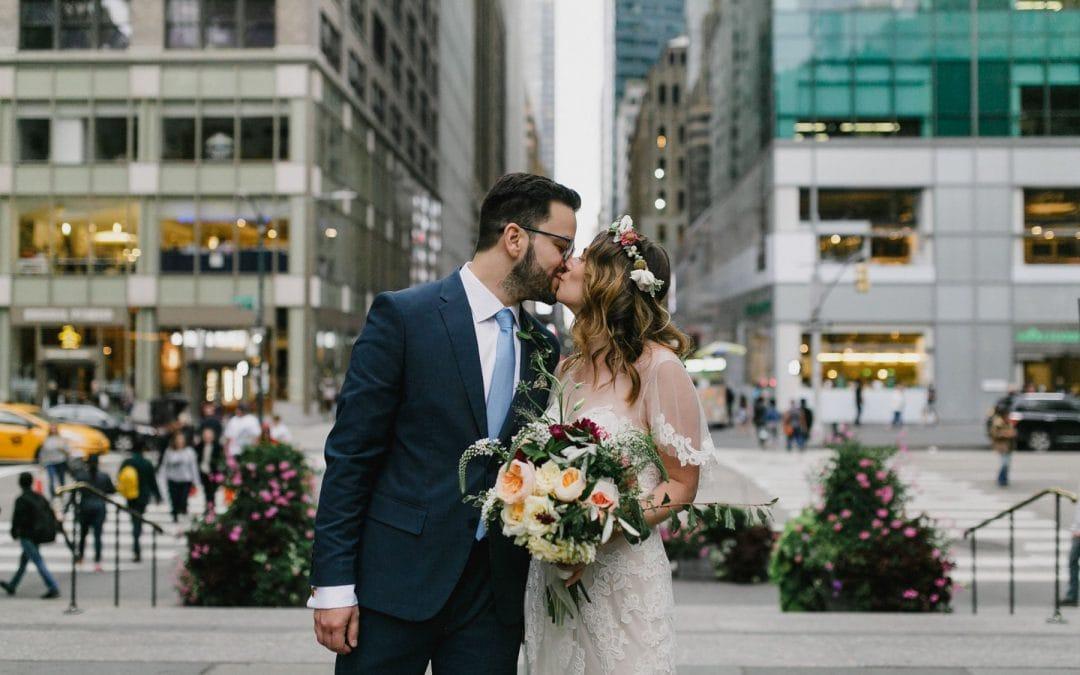 Garden Party Wedding at Bryant Park in Manhattan   Ariel & German