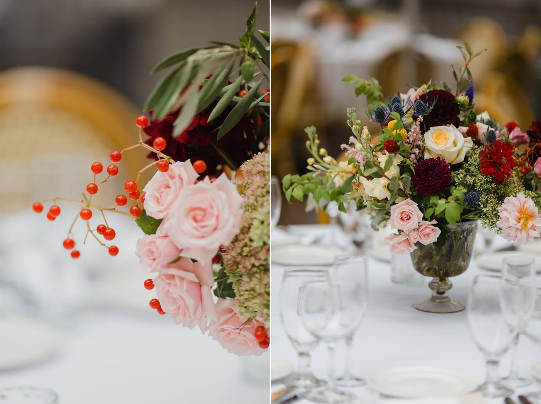 Bryant Park Grill wedding centerpieces garden party