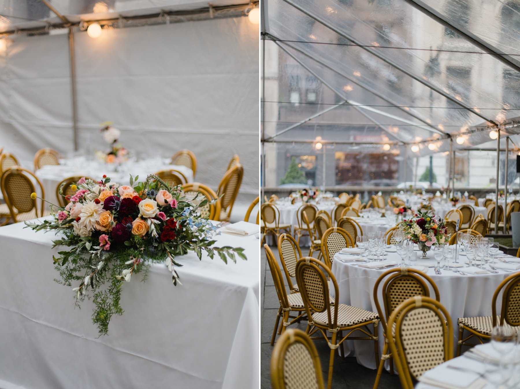 garden party Bryant Park Grill tented reception