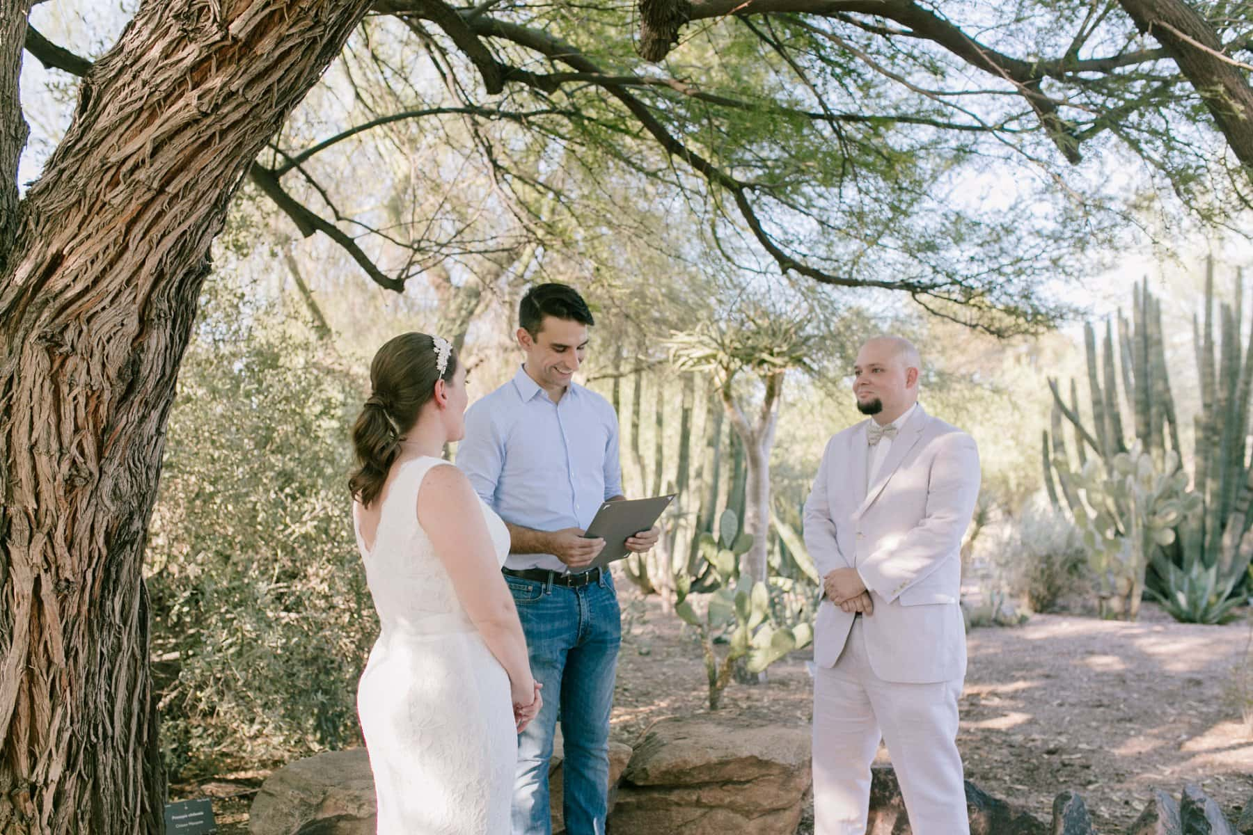 elopement at Desert Botanical Gardens in Phoenix
