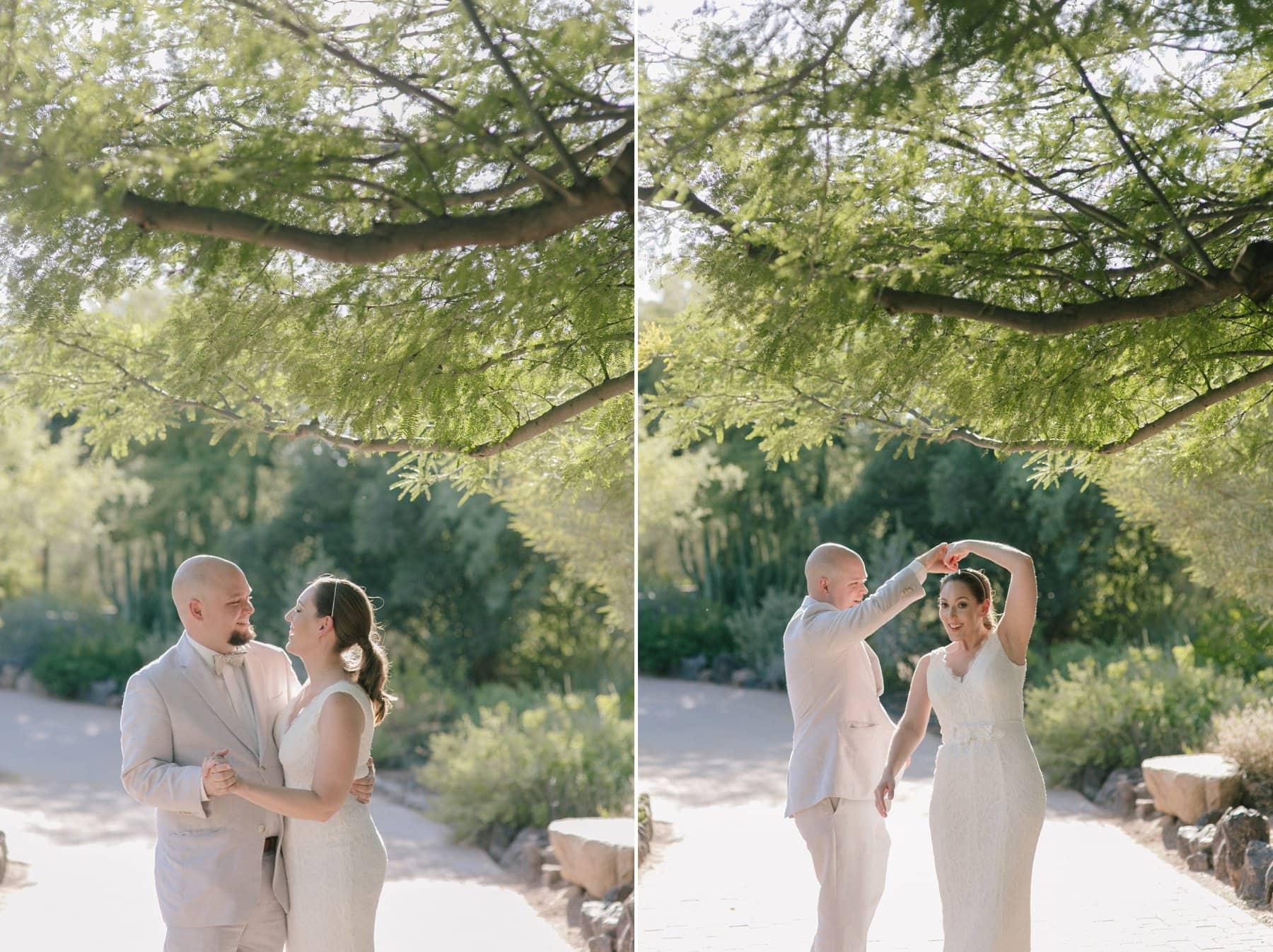 Desert Botanical Gardens elopement photos