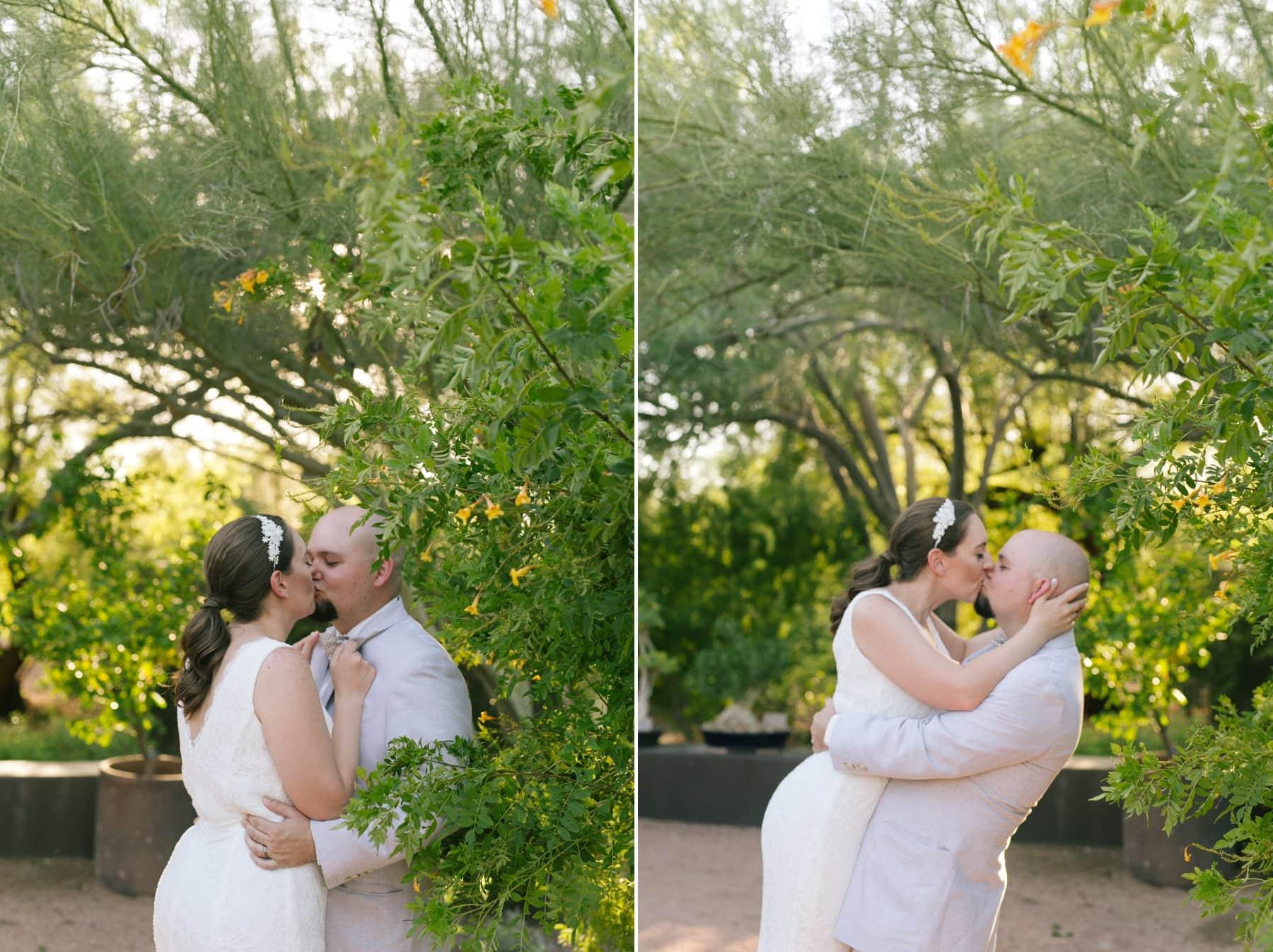Desert Botanical Gardens elopement wedding photos