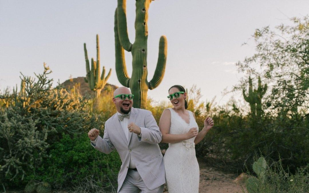 Desert Botanical Garden Elopement | Jackie & Steve