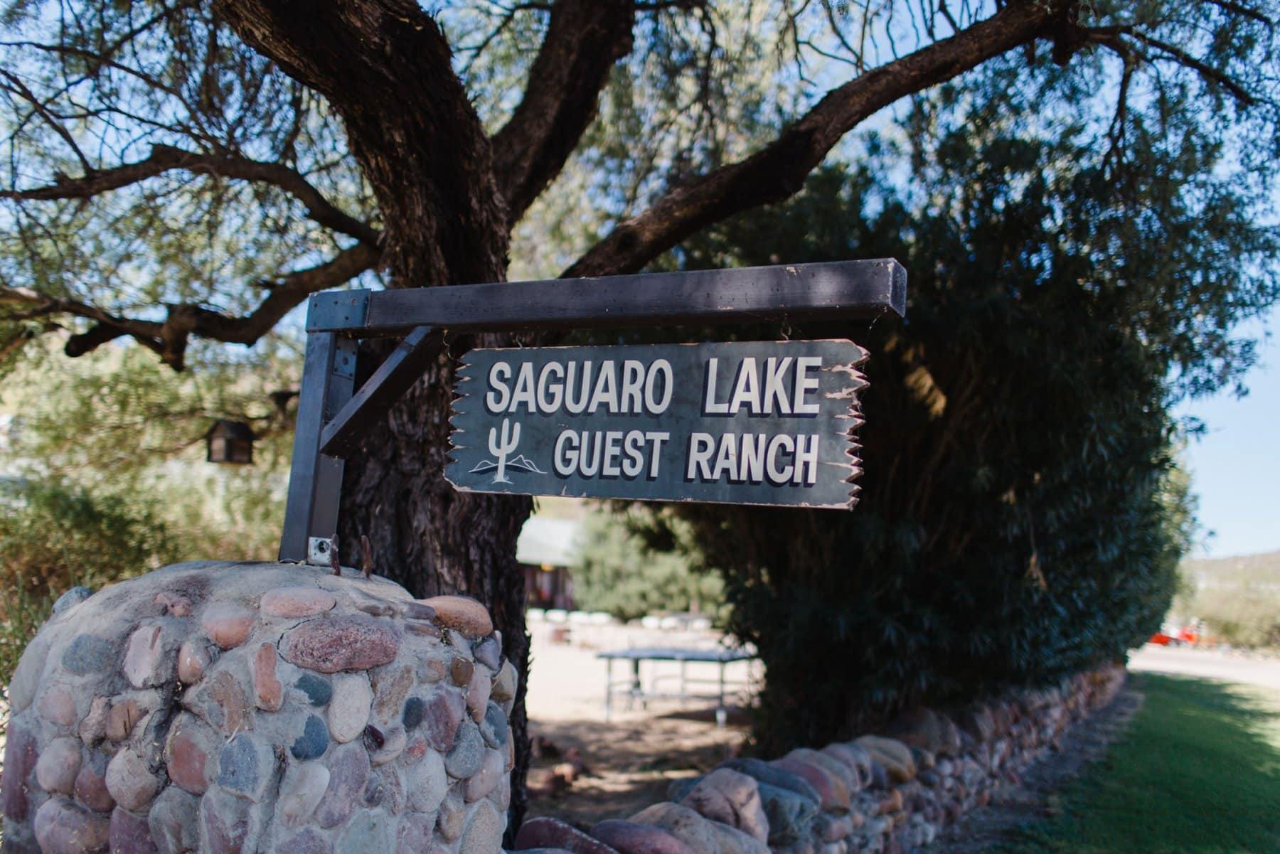 Saguaro Lake Guest Ranch sign