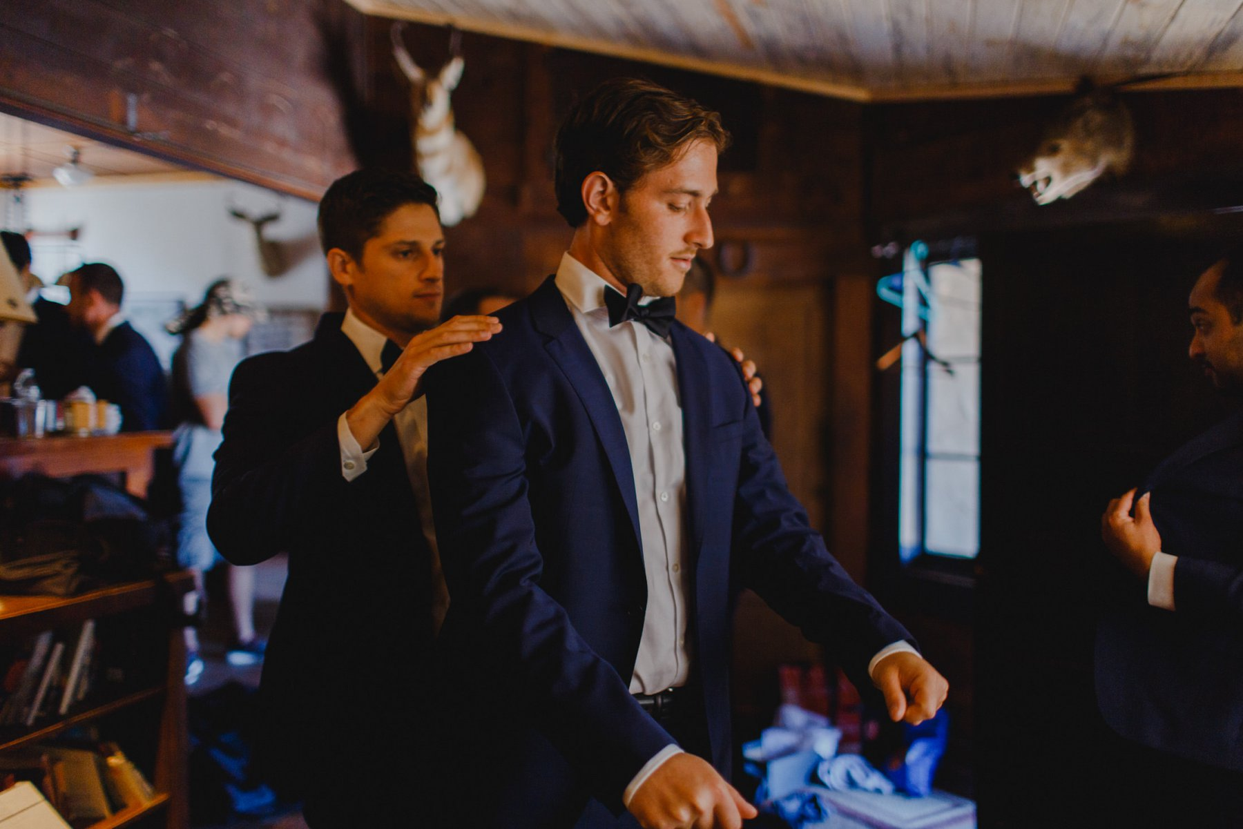groom getting ready Saguaro Lake Ranch wedding