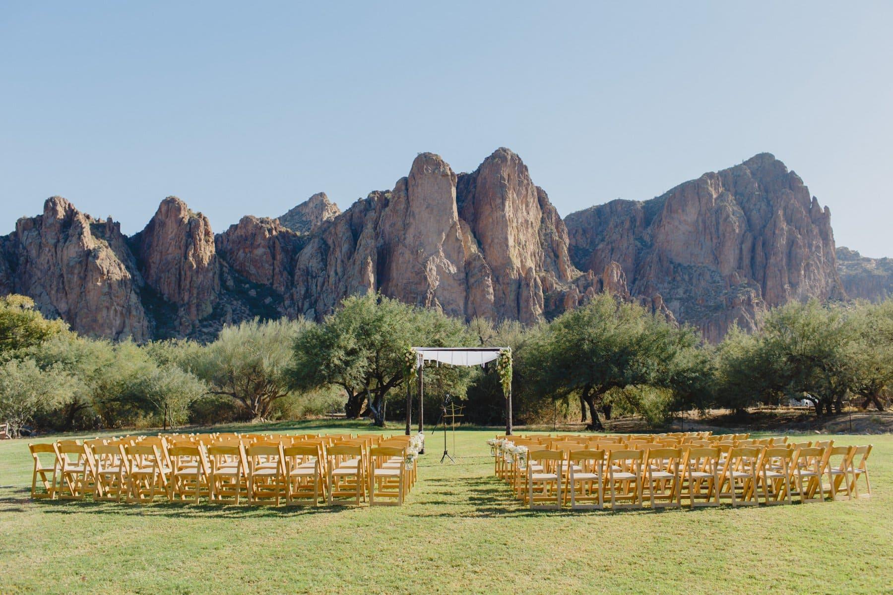 Saguaro Lake Ranch wedding ceremony