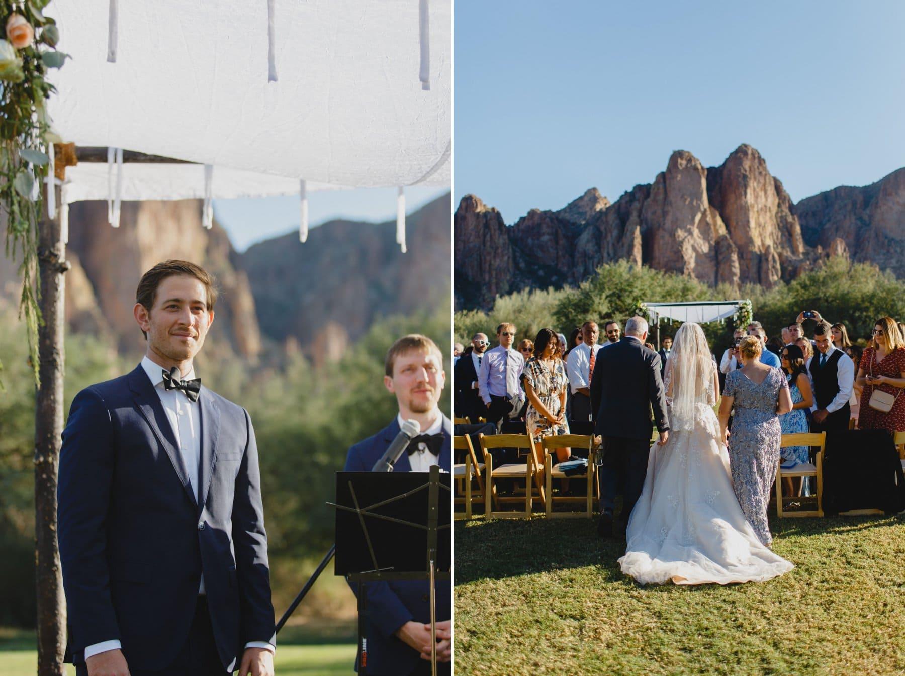 wedding ceremony at Saguaro Lake Ranch