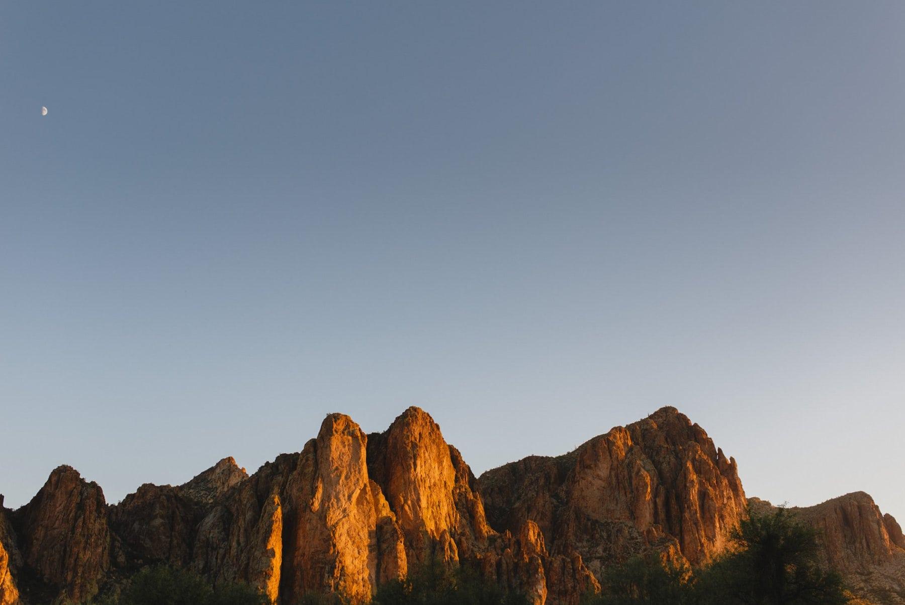 Bulldog Mountains at sunset AZ