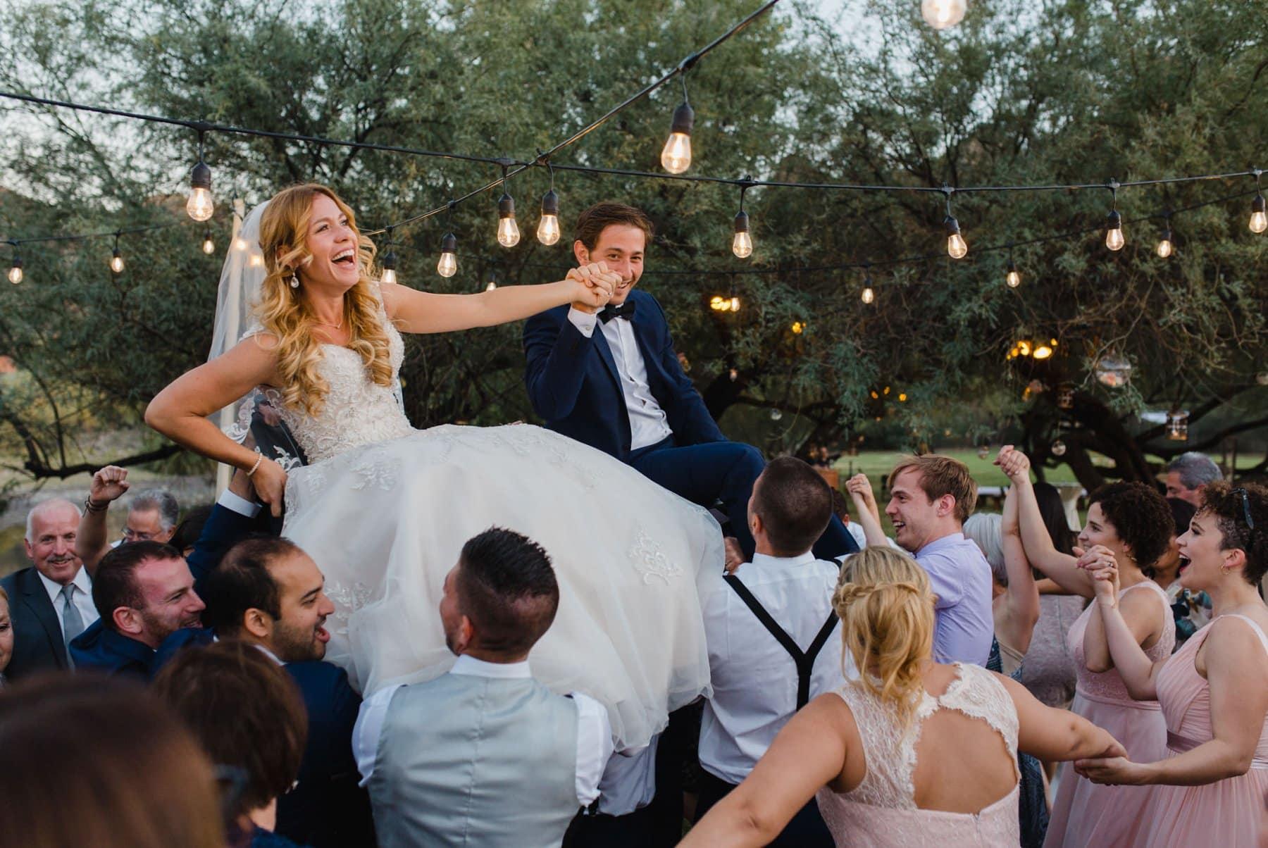 horah Jewish wedding dance Saguaro Lake Ranch wedding