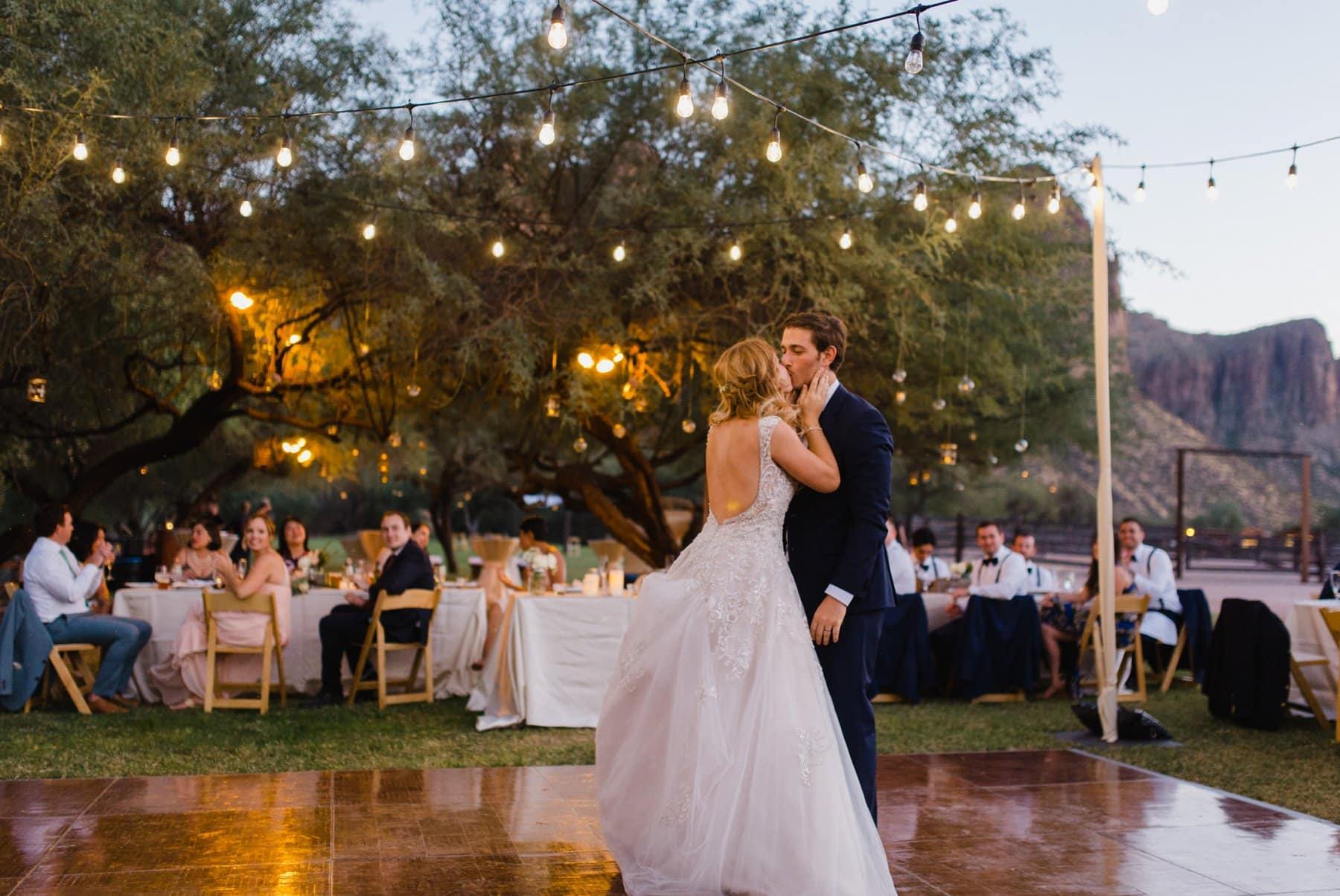 first dance at Saguaro Lake Ranch
