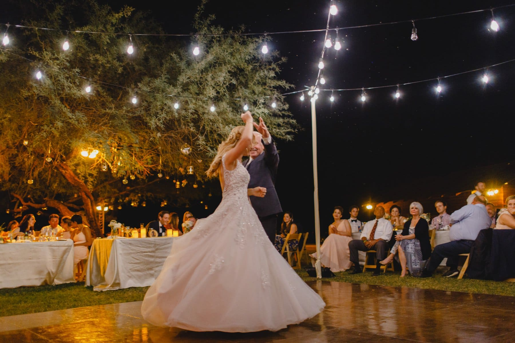 Saguaro Lake Ranch wedding reception