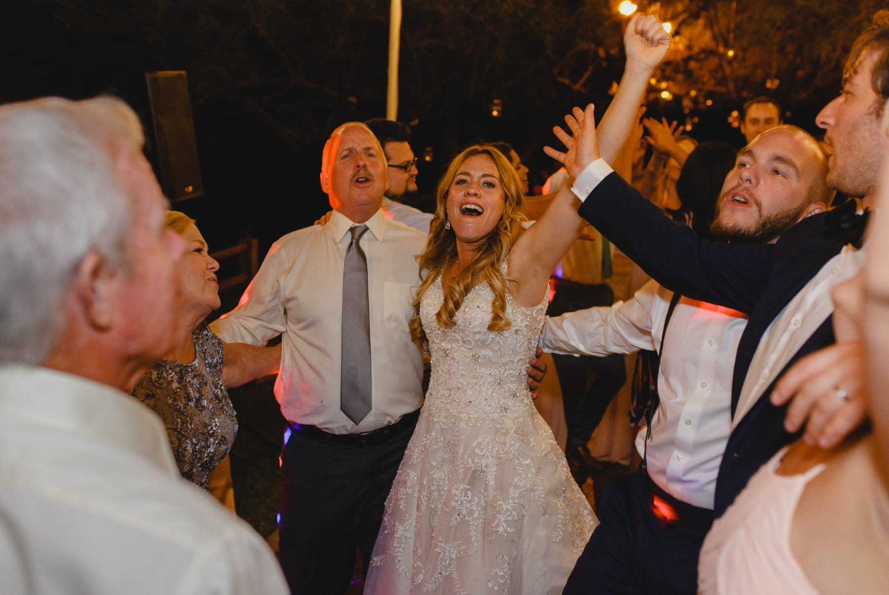 Saguaro Lake Ranch outdoor wedding reception