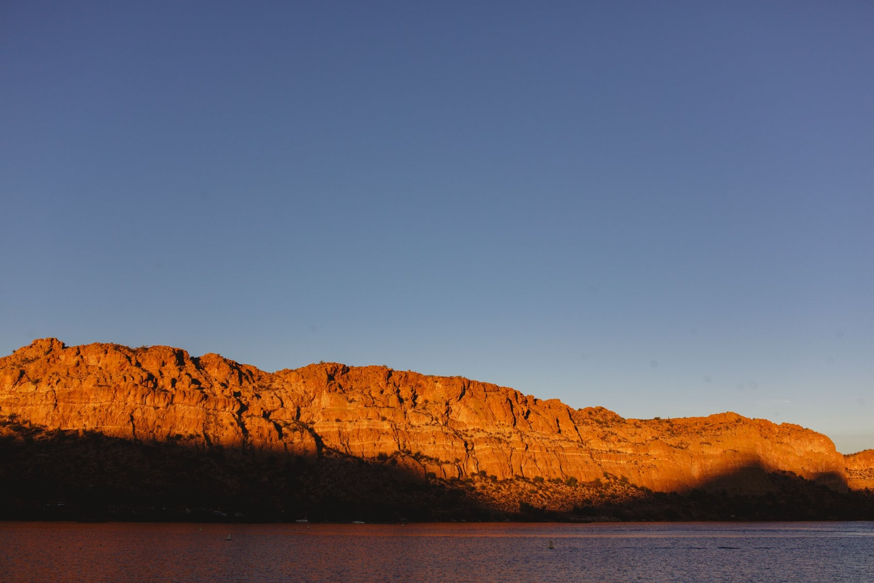 Saguaro Lake at sunset