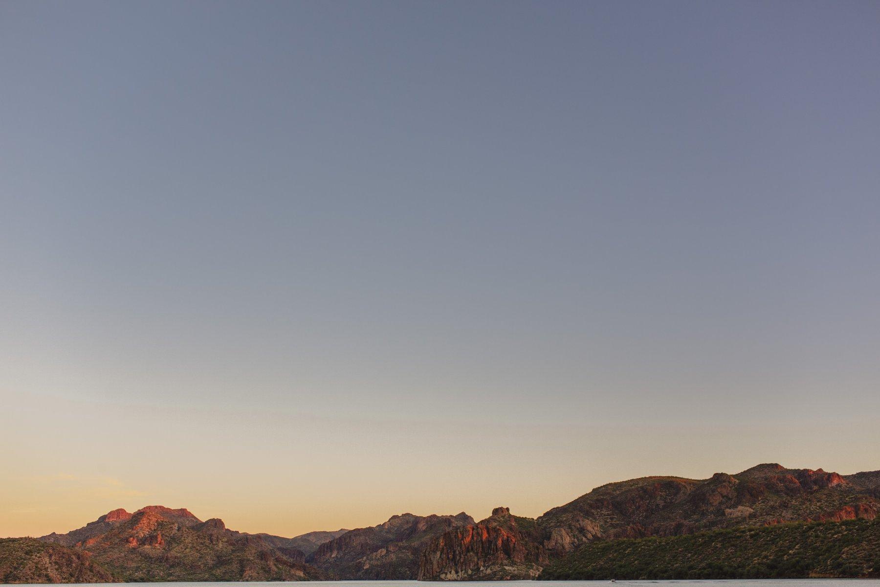 Saguaro Lake at sunset
