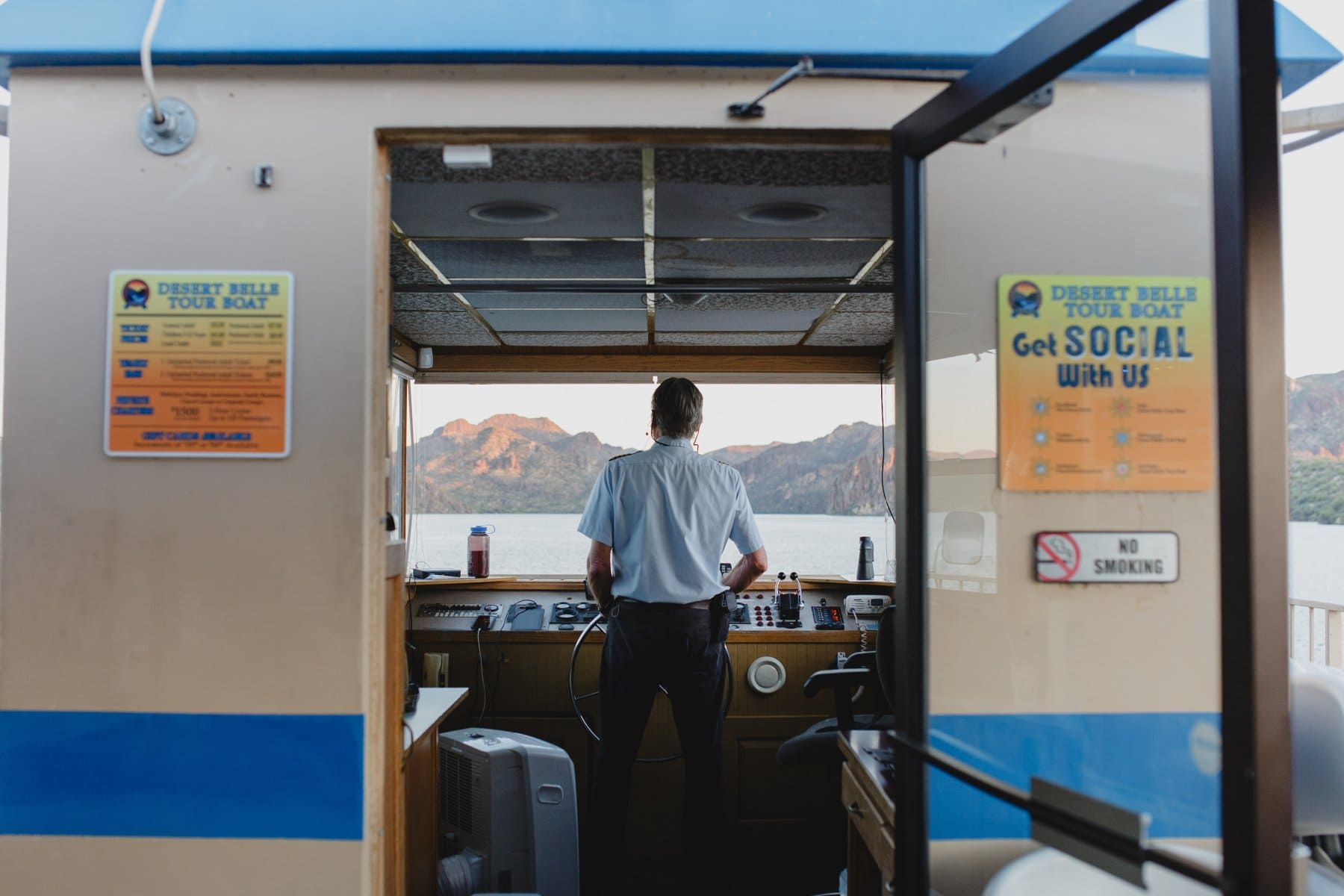 captain of Desert Belle tour boat Saguaro Lake