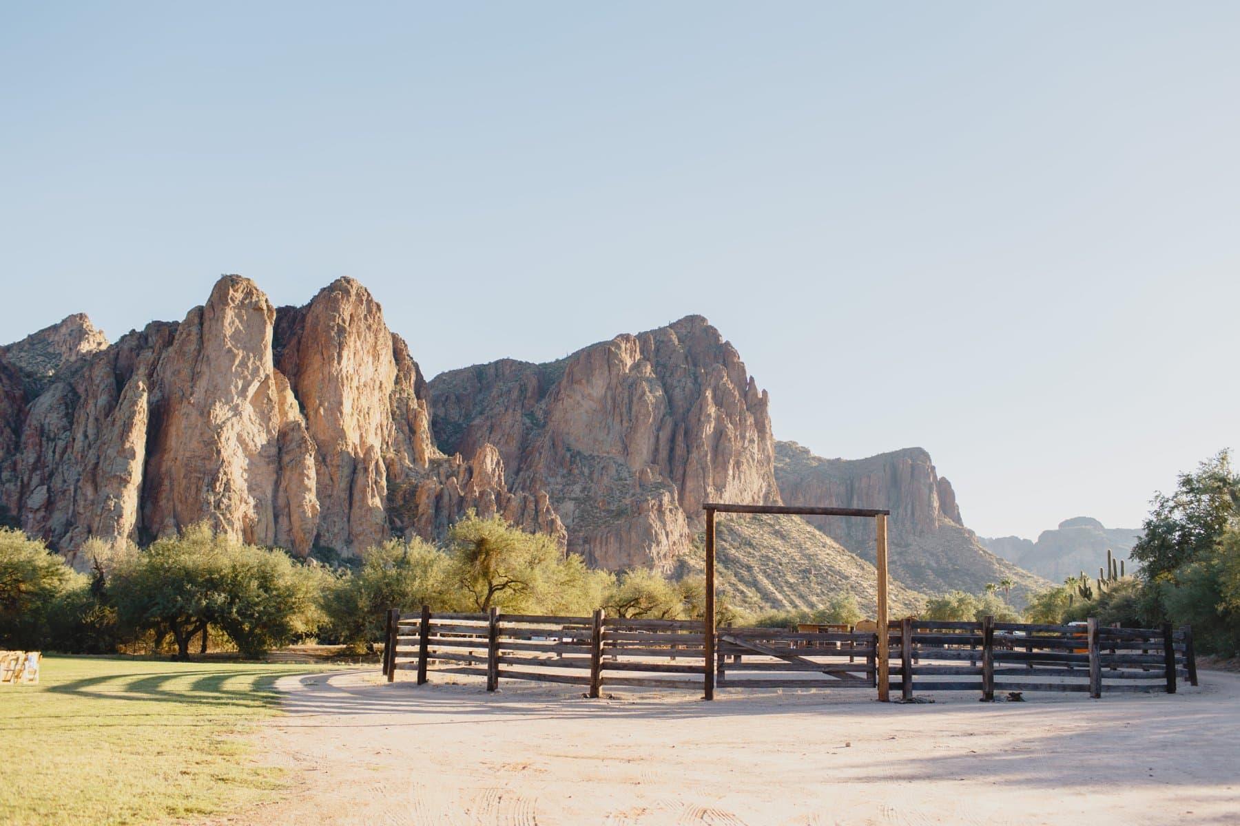 Saguaro Lake Ranch horse stables