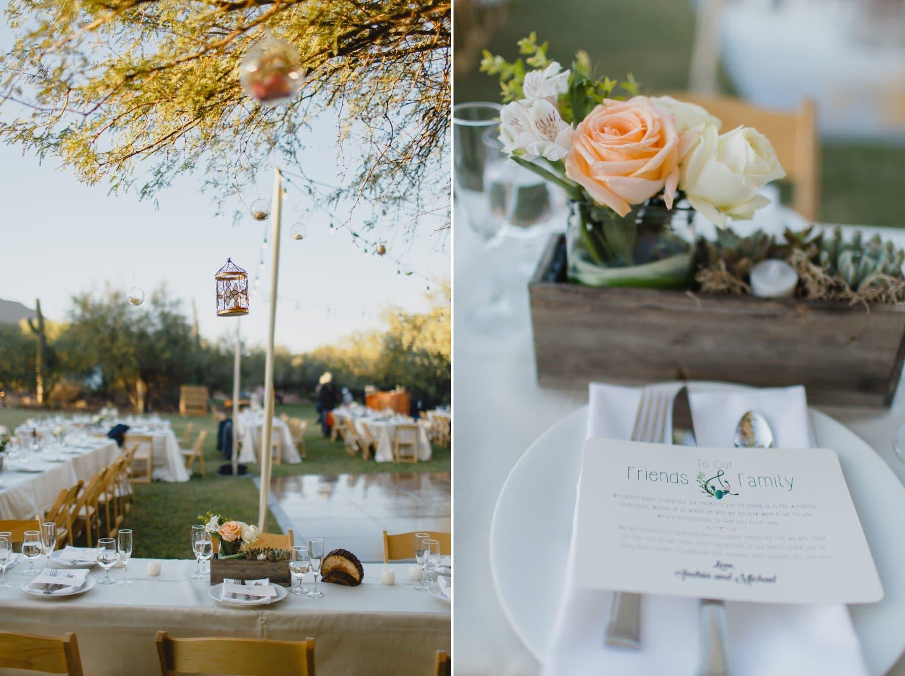 wedding reception at Saguaro Lake Ranch