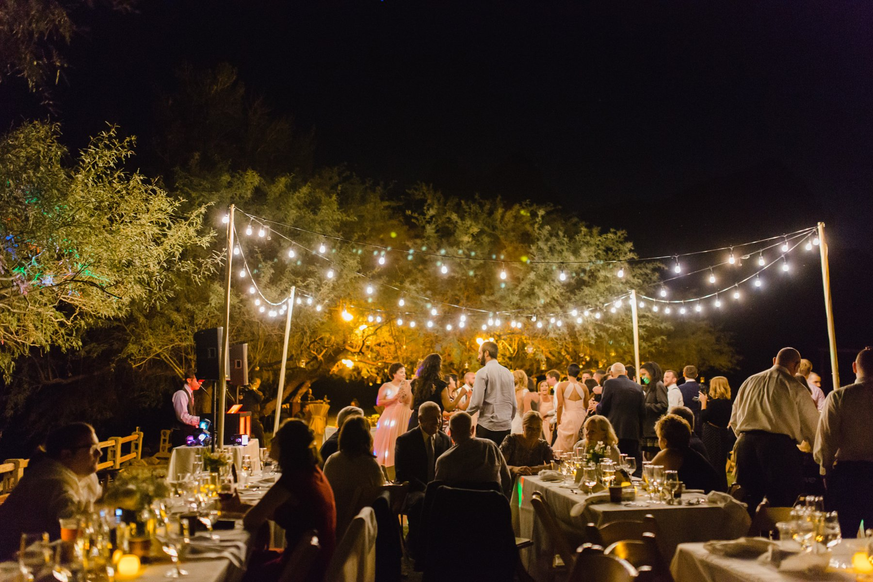 outdoor reception Arizona Saguaro Lake Ranch
