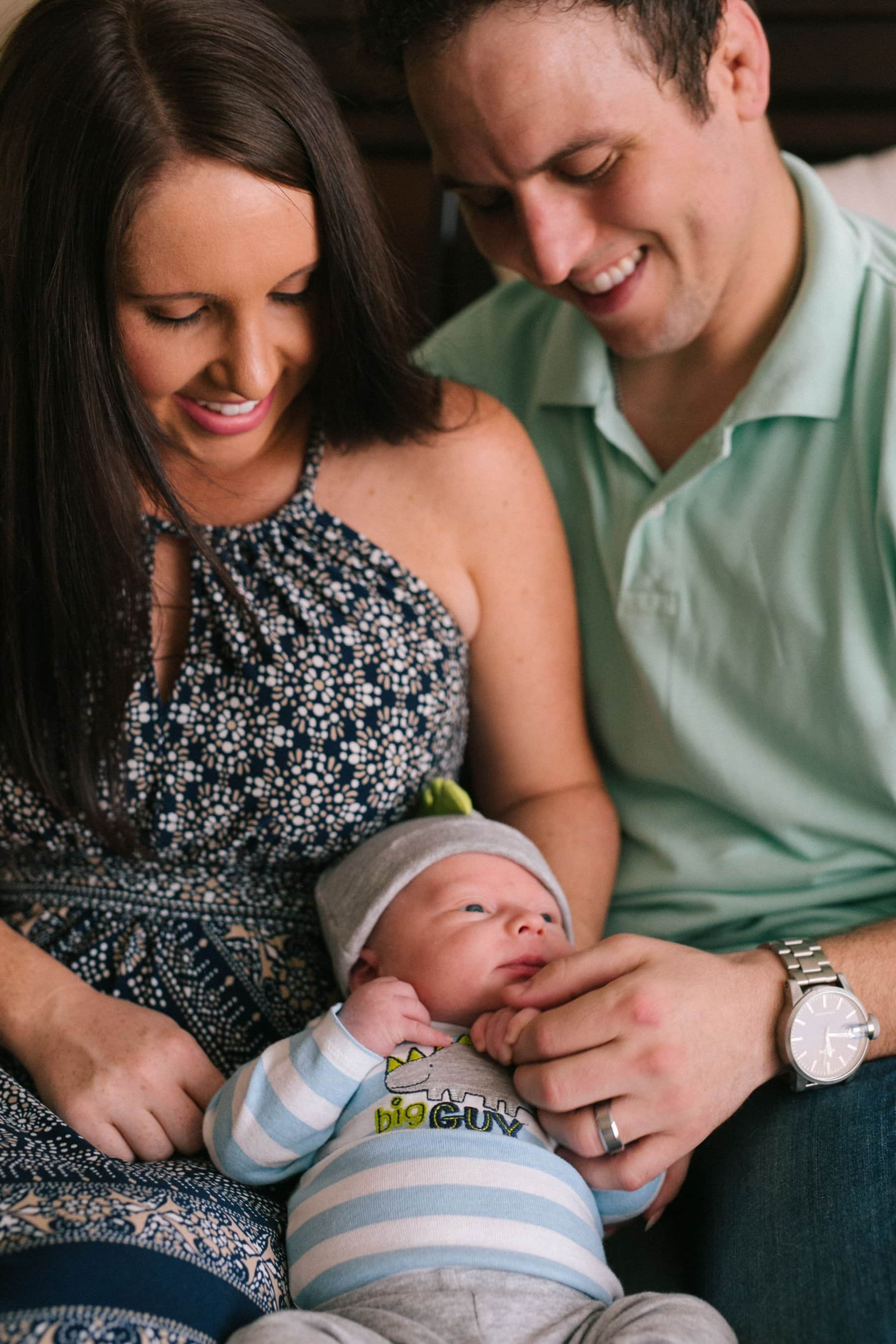 Chandler in home documentary lifestyle newborn photos