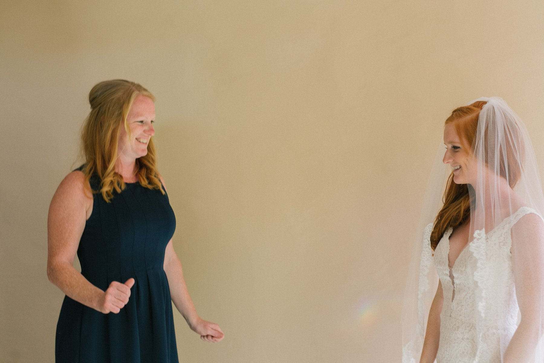 mom seeing bride for first time Tempe documentary wedding photographer