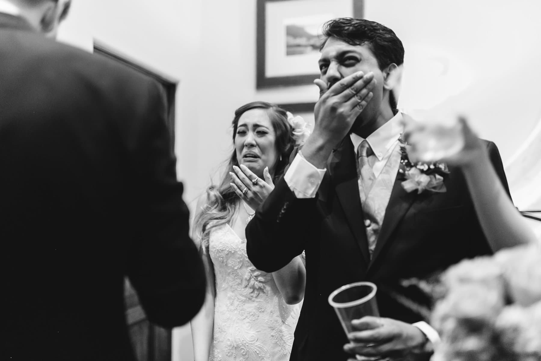 the post wedding toast was strong Phoenix documentary candid wedding photographer
