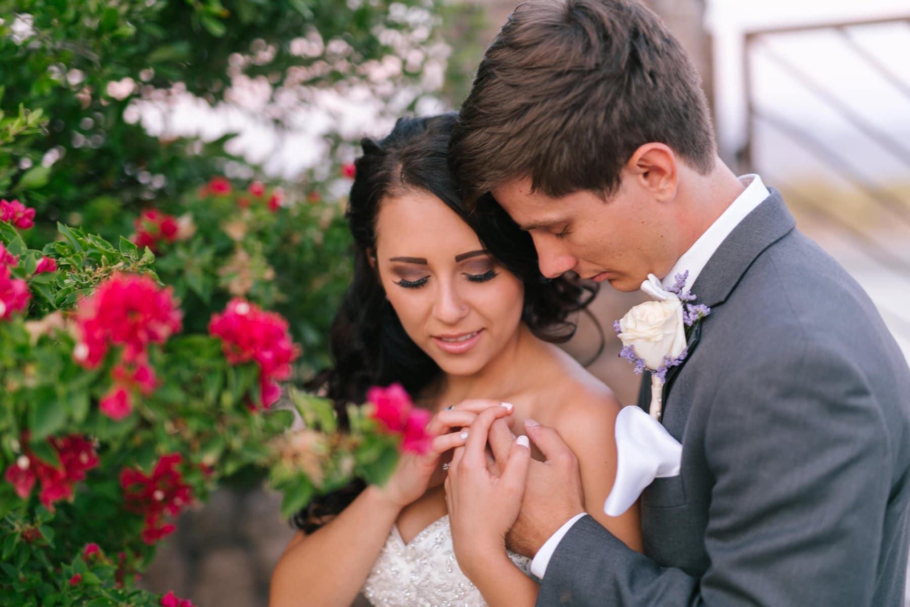 bride & groom at Superstition Manor Mesa, AZ wedding venue