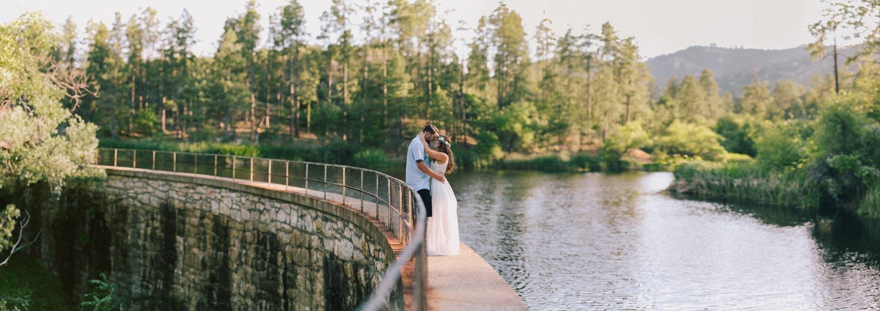 adventure elopement in northern Arizona lake