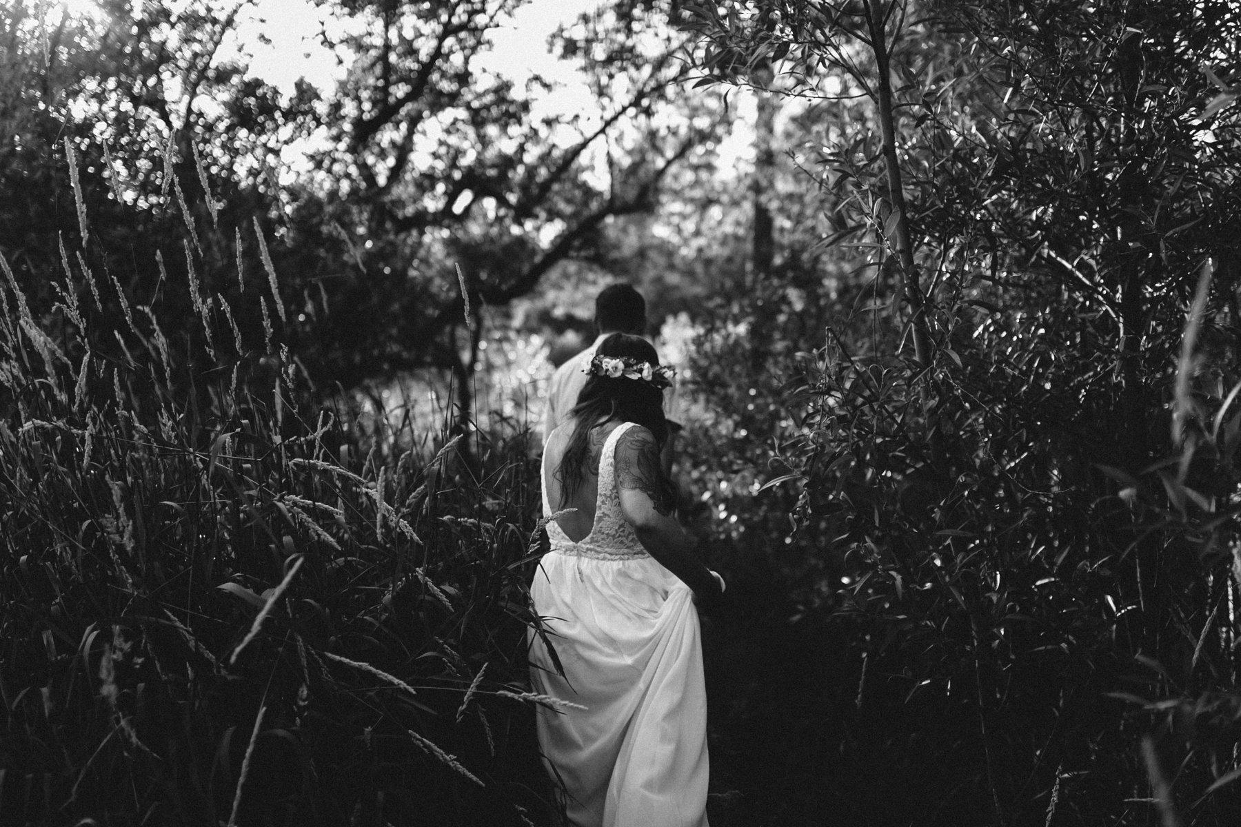 boho bride adventure elopement Prescott Forest Arizona