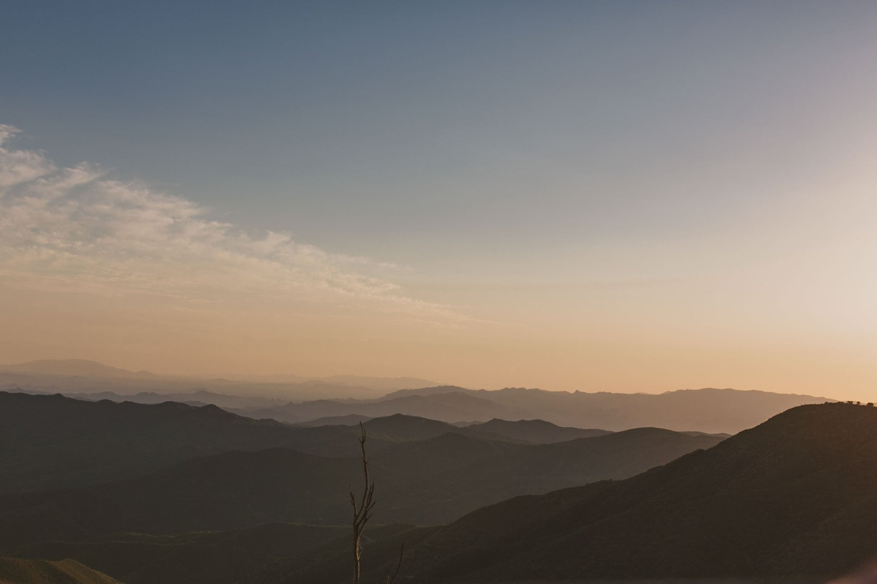 adventure elopement Arizona mountains at sunset Prescott National Forest