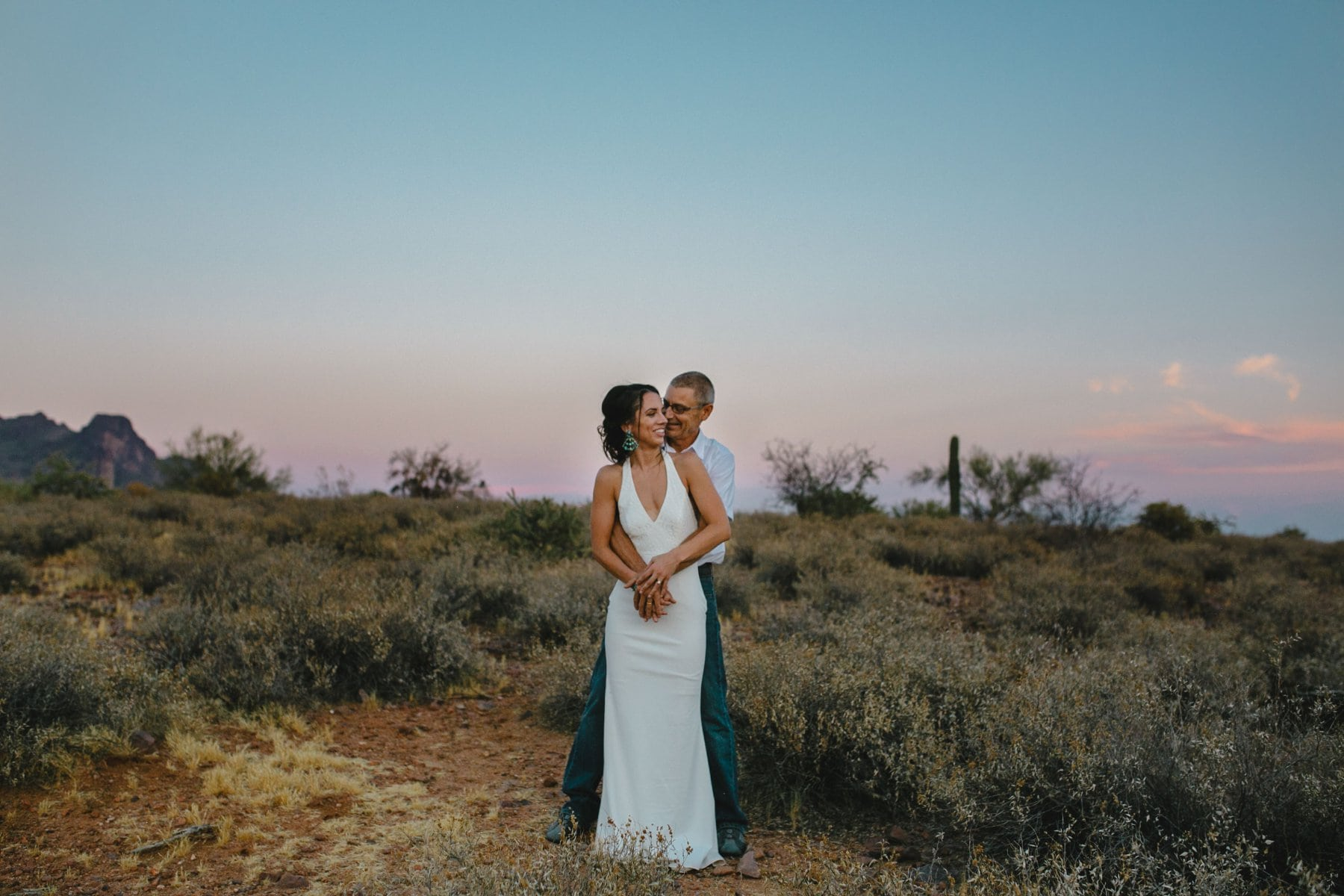 Superstition Mountains desert boho elopement photos