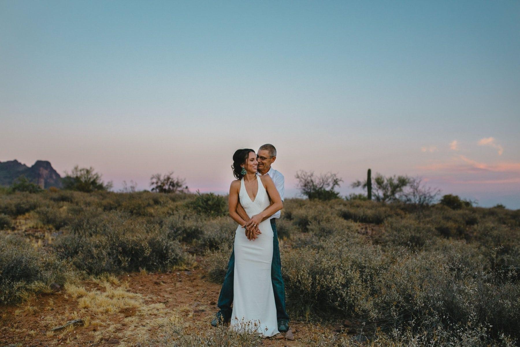 Superstition Mountains desert boho elopement photos
