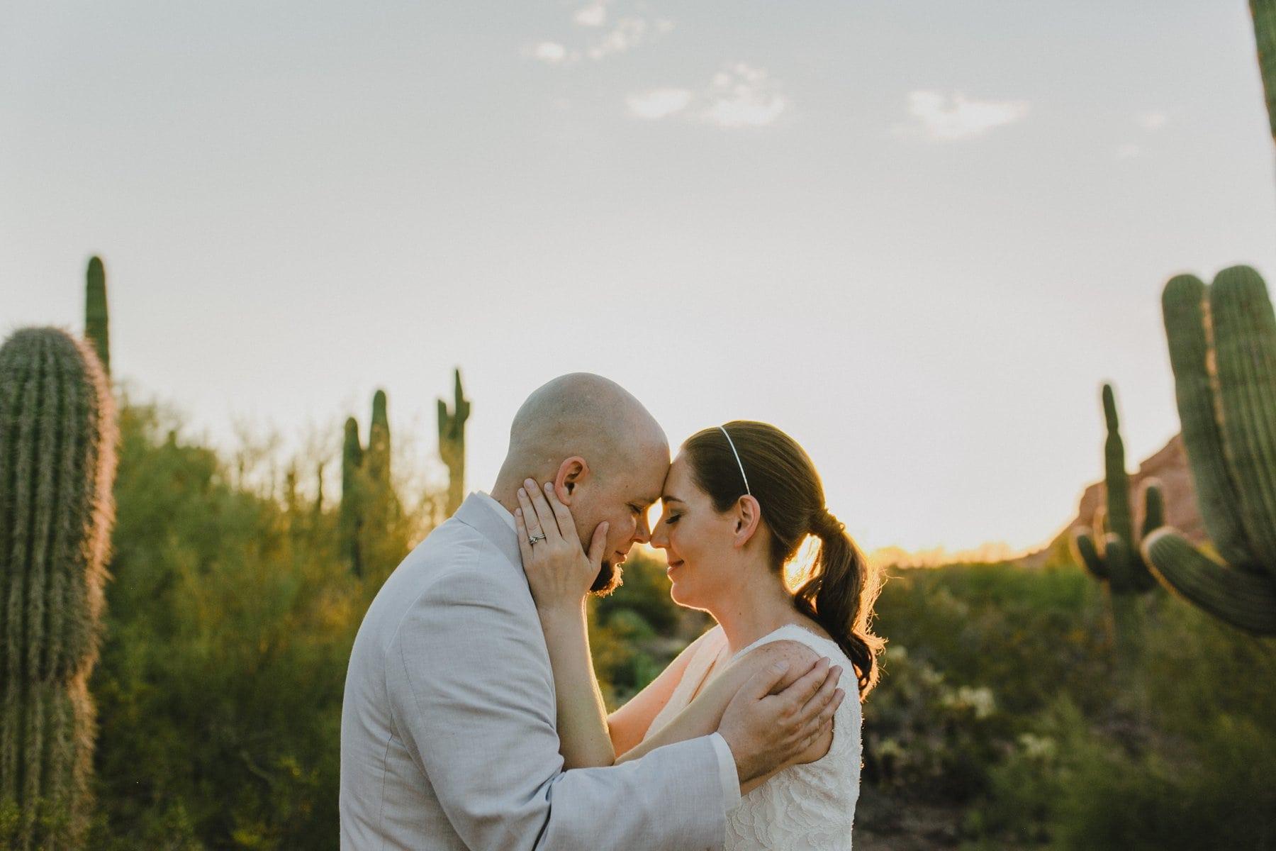 elopement photos at Desert Botanical Gardens