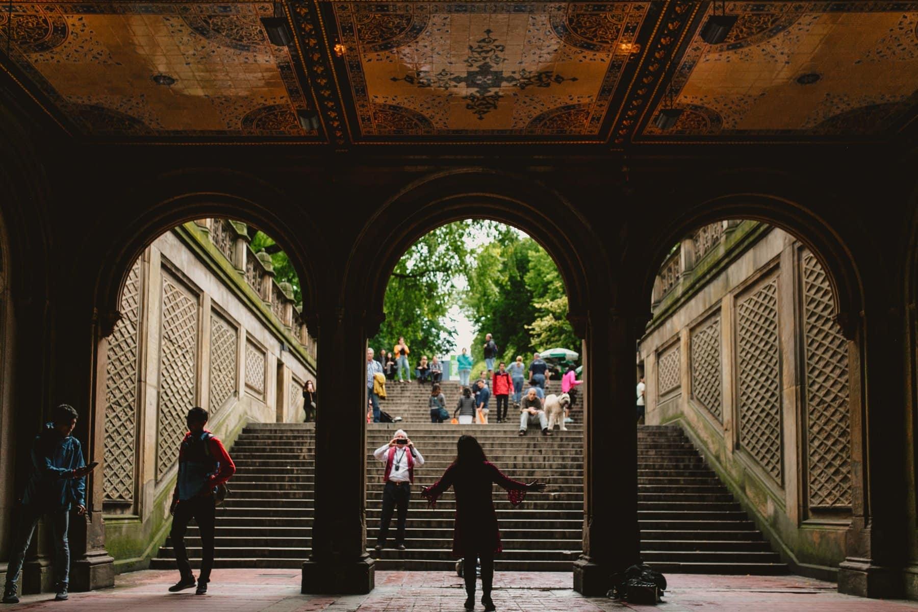opera singer in New York Minton Tiles Central Park