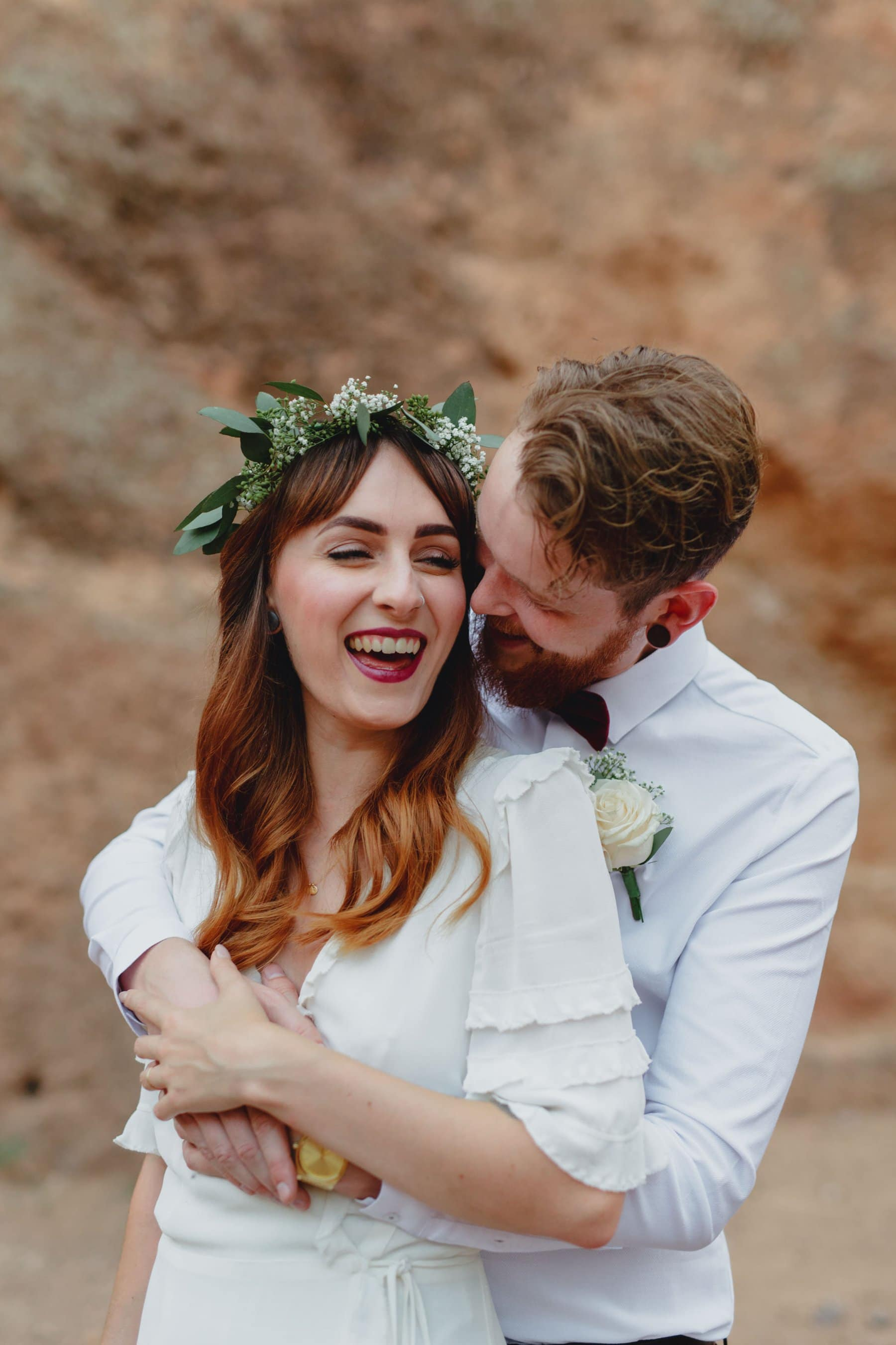 candid authentic natural elopement photos Arizona