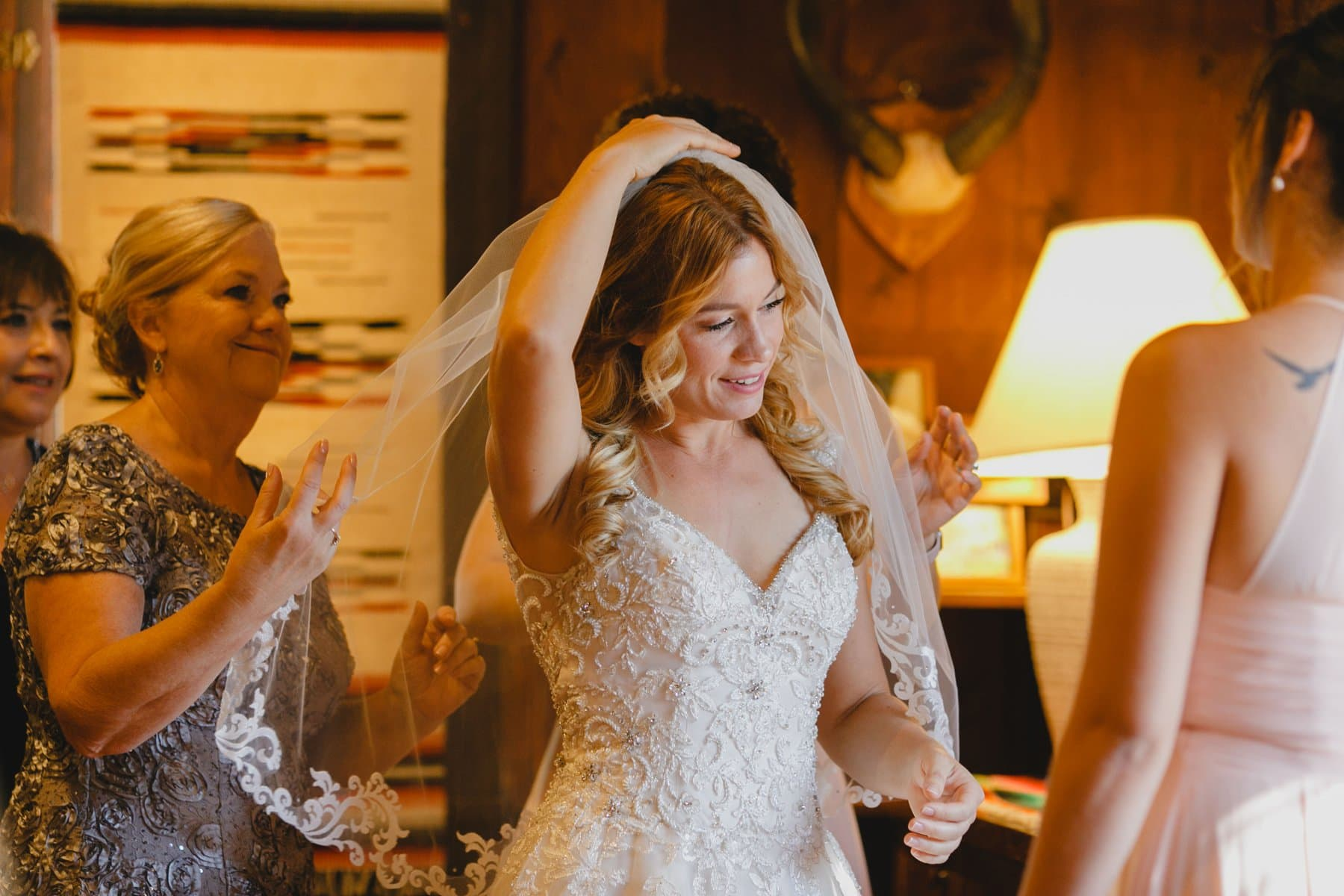 bride getting ready at Saguaro Lake Ranch Mesa