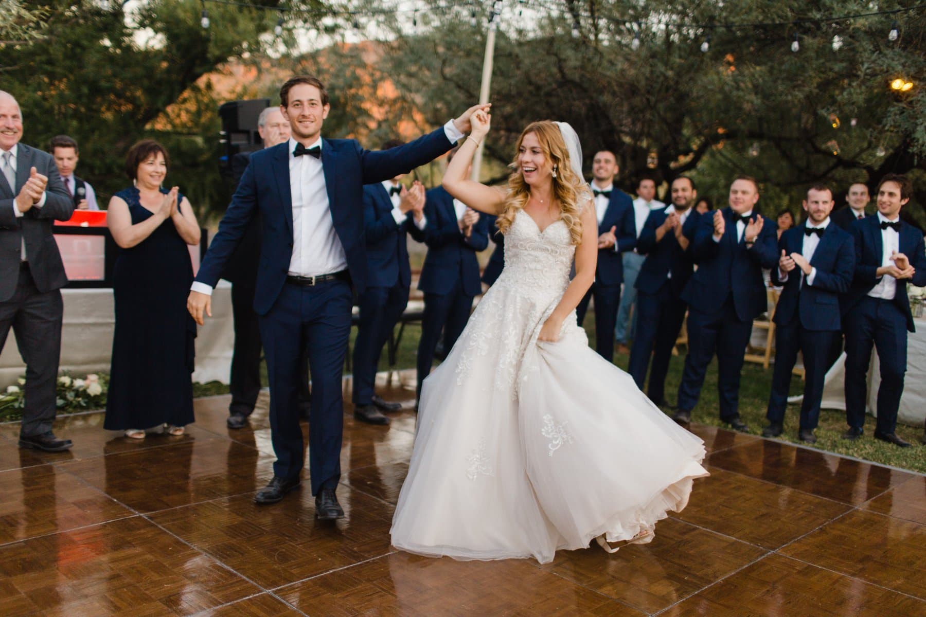 grand entrance Saguaro Lake Ranch wedding