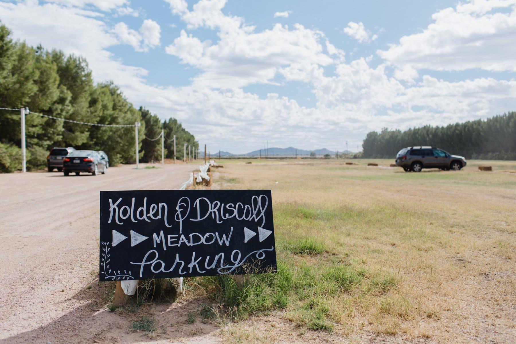 Schnepf Farms Meadow parking lot