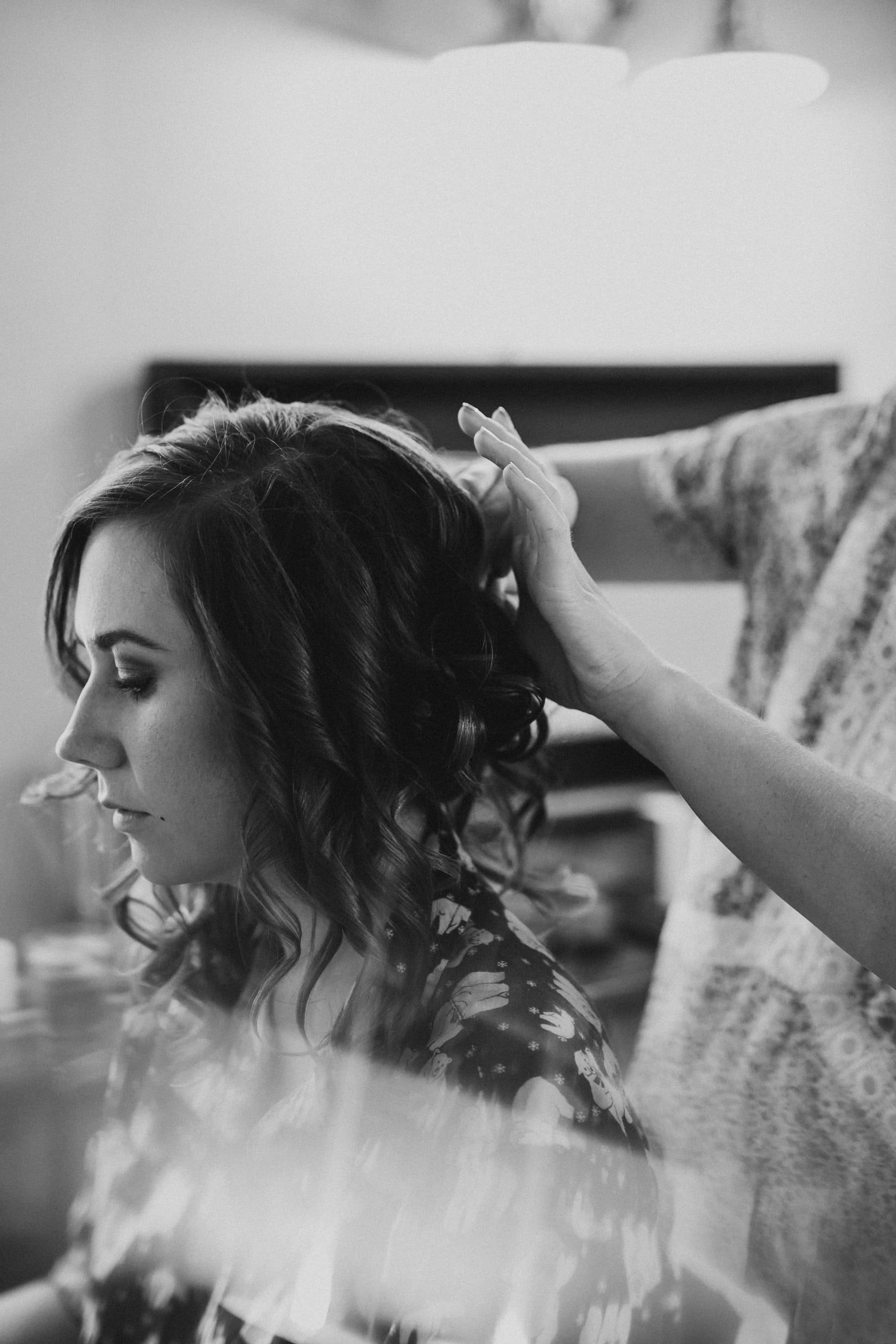 bride getting ready at Schnepf Farms Queen Creek AZ outdoor wedding venue