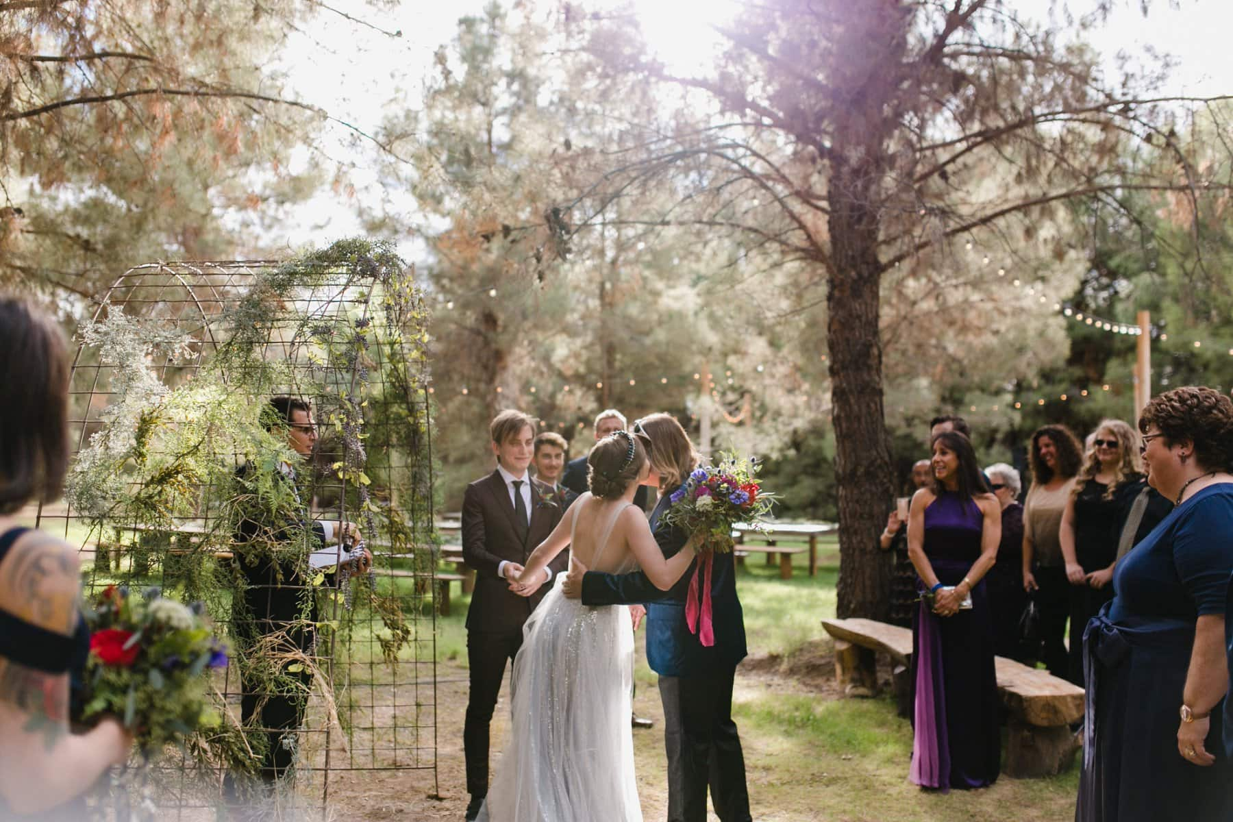 wedding ceremony at the Meadow at Schnepf Farms AZ