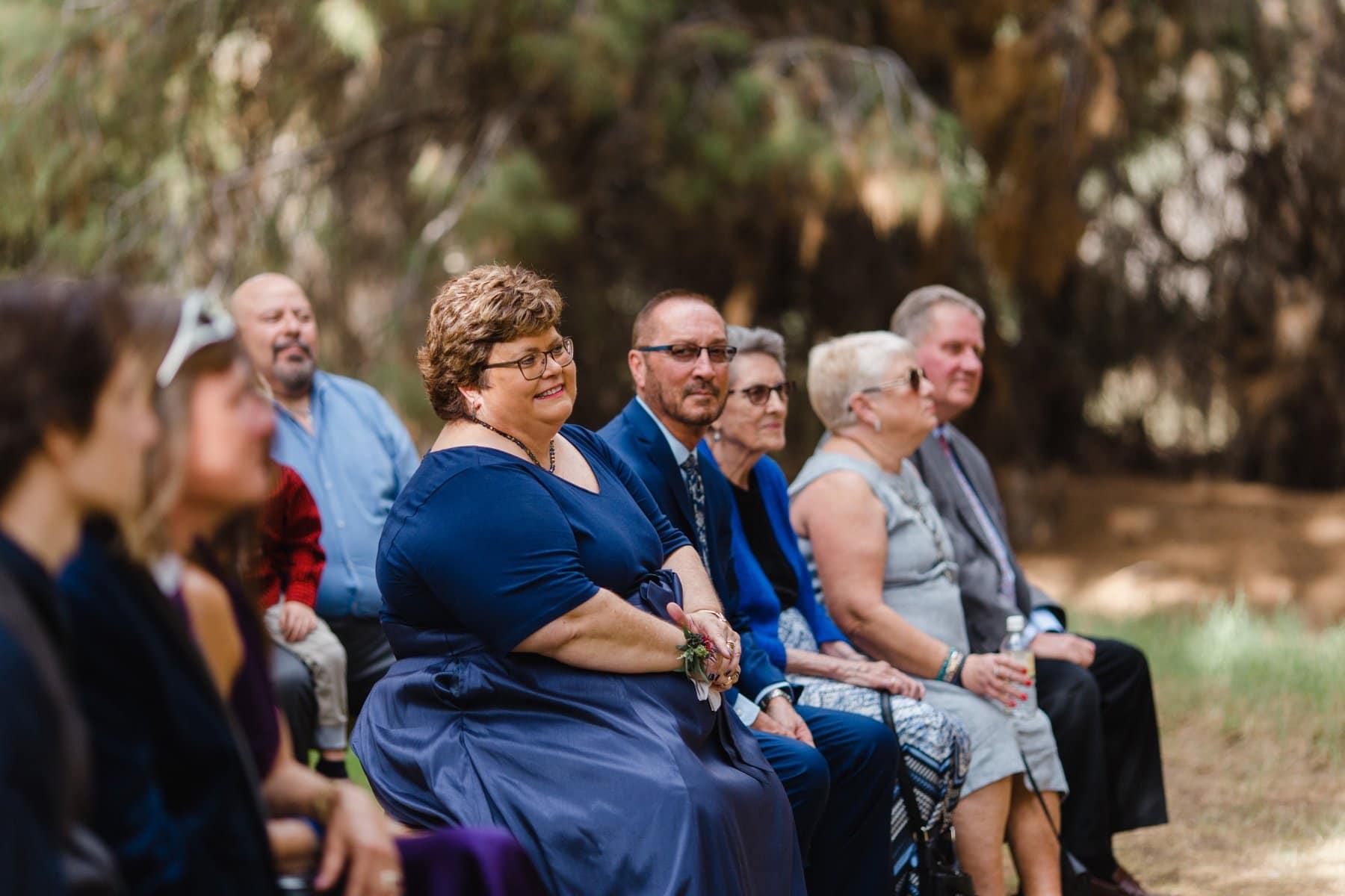 wedding ceremony at Schnepf Farms the Meadows