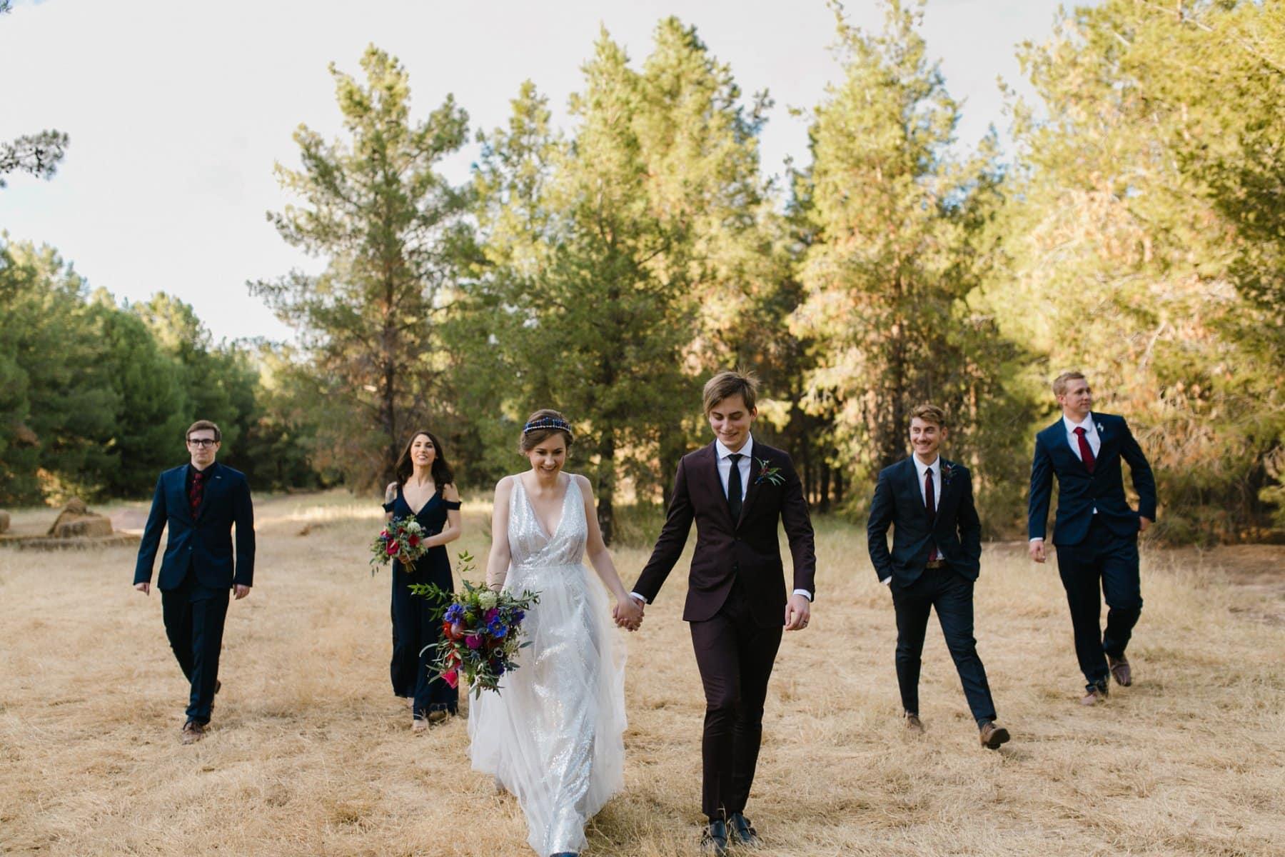 pine tree wedding venue in Phoenix Schnepf Farms
