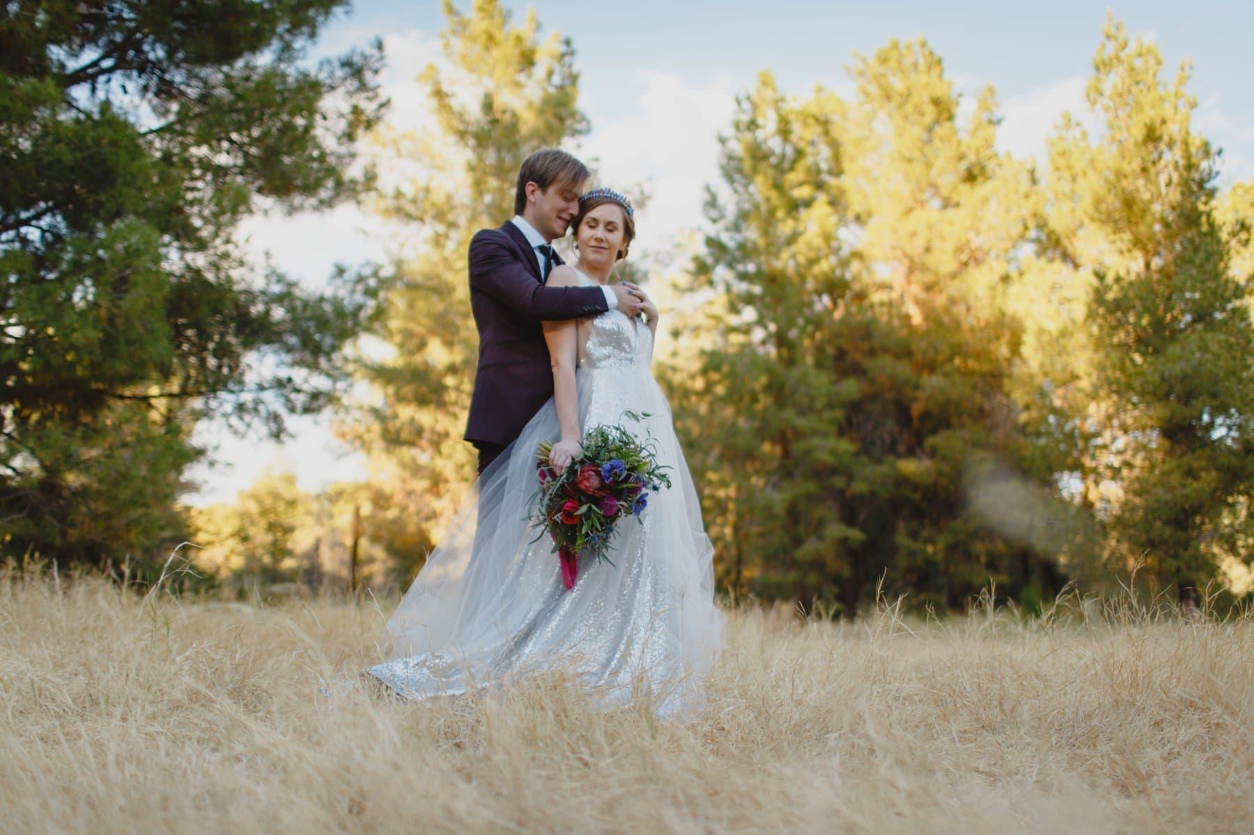 Schenpf Farms Meadow venue pine tree forest wedding venue in Phoenix