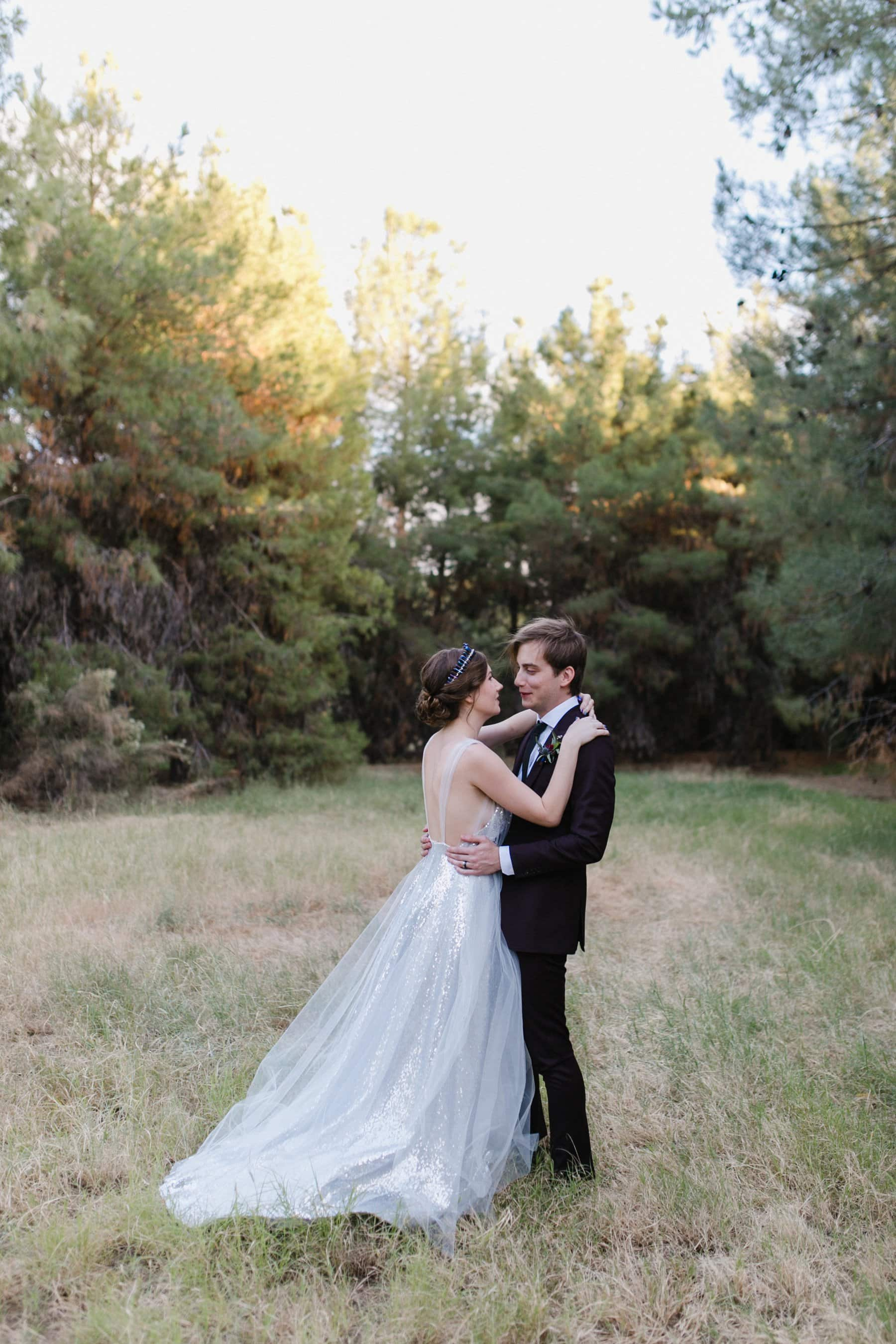 forest wedding in Phoenix the Meadow Schnepf Farms